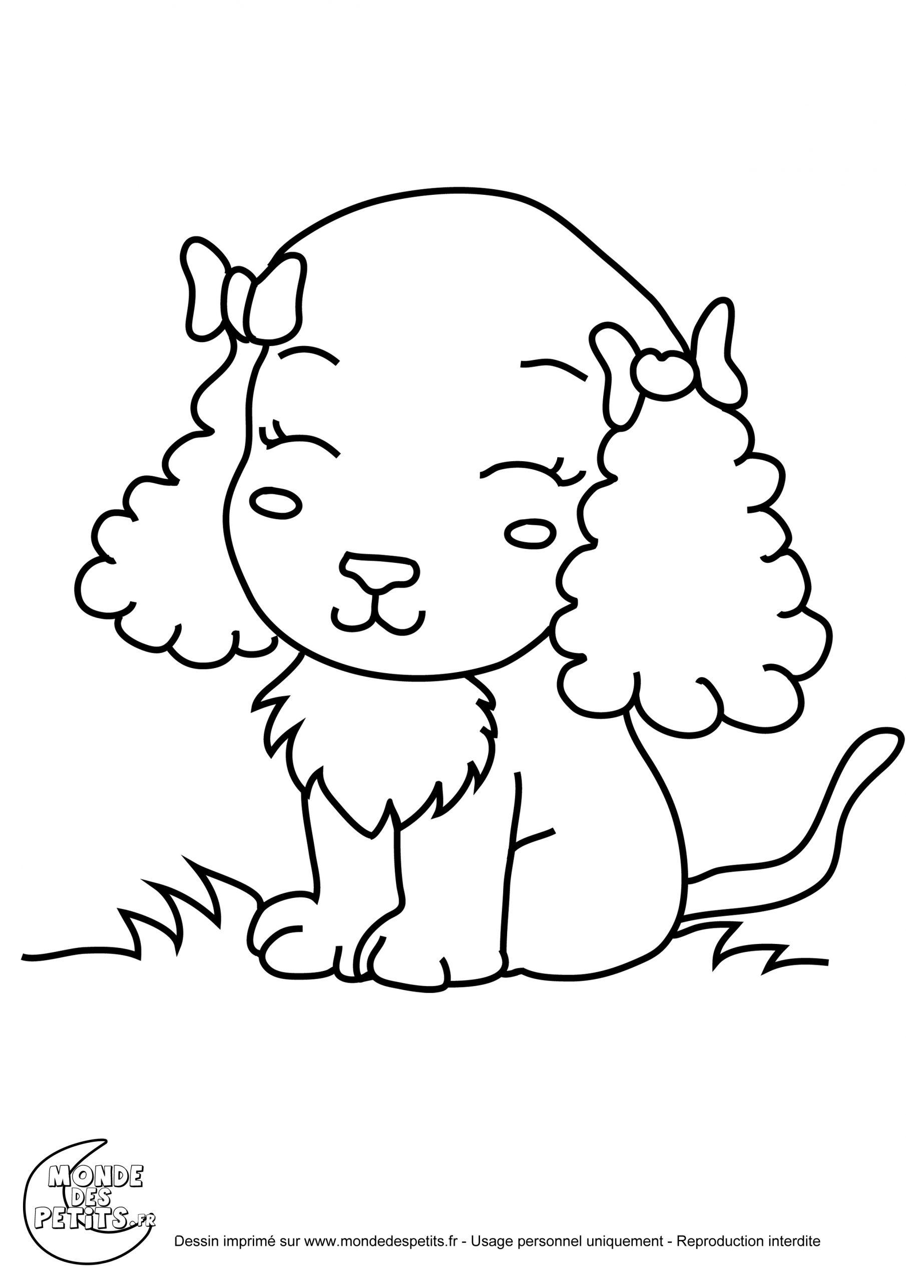 Coloriage Chiot - Les Beaux Dessins De Animaux À Imprimer Et tout Coloriage De Chiot A Imprimer