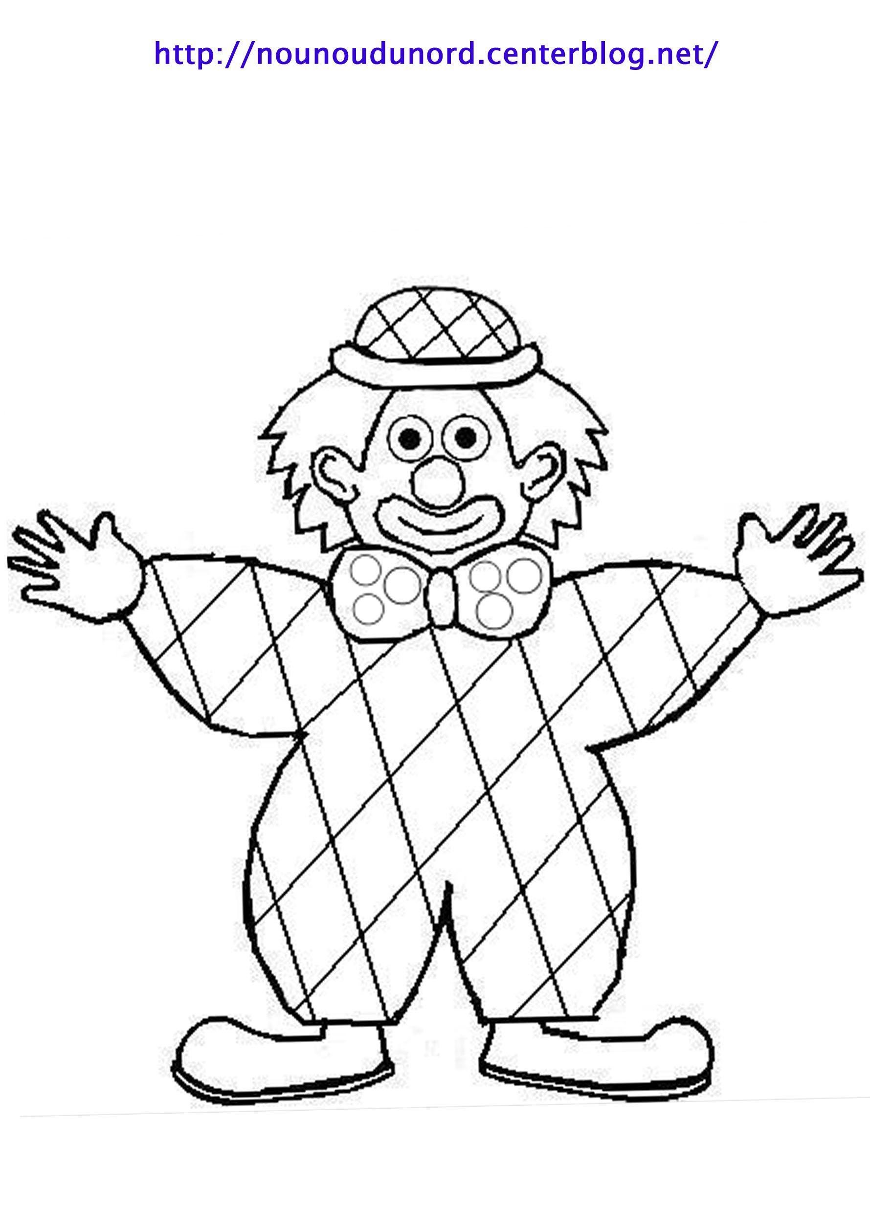 Coloriage Clown Arlequin Dessiné Par Nounoudunord à Arlequin A Colorier