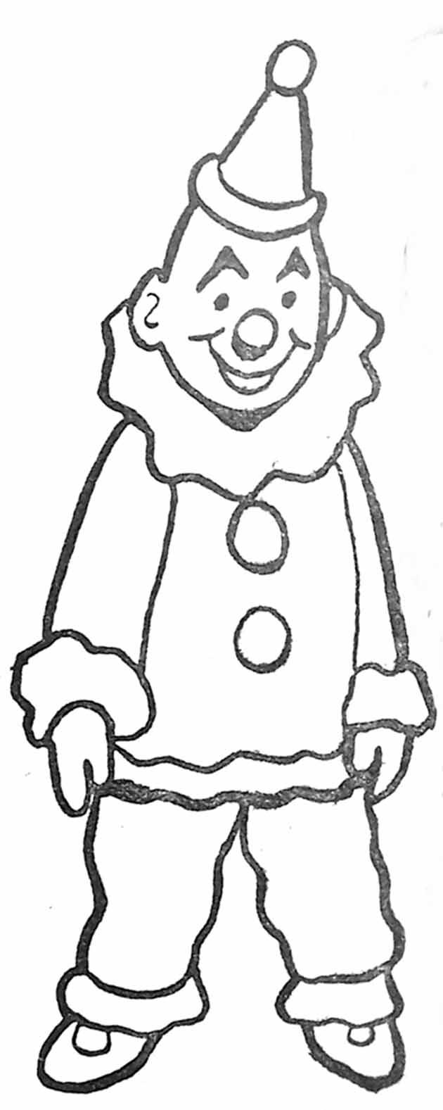 Coloriage Clown Blanc à Coloriage Pantin