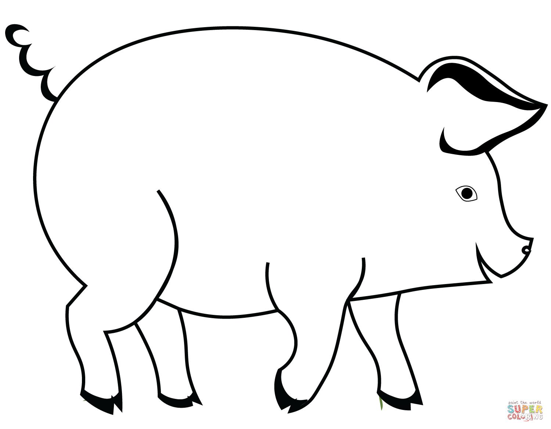 Coloriage - Cochon | Coloriages À Imprimer Gratuits intérieur Dessin A Colorier Cochon