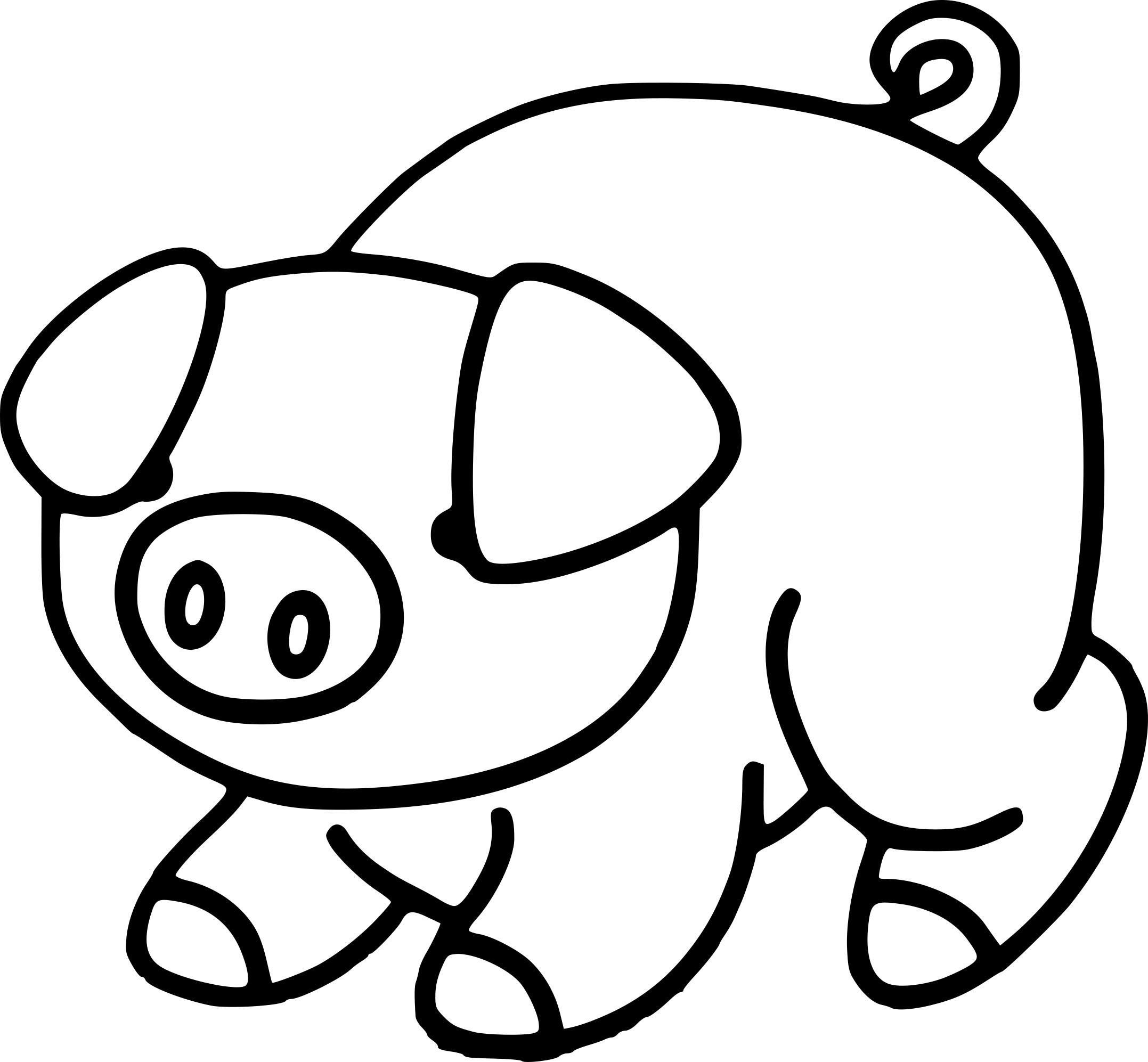 Coloriage Cochon Maternelle À Imprimer Sur Coloriages pour Dessin Cochon A Colorier