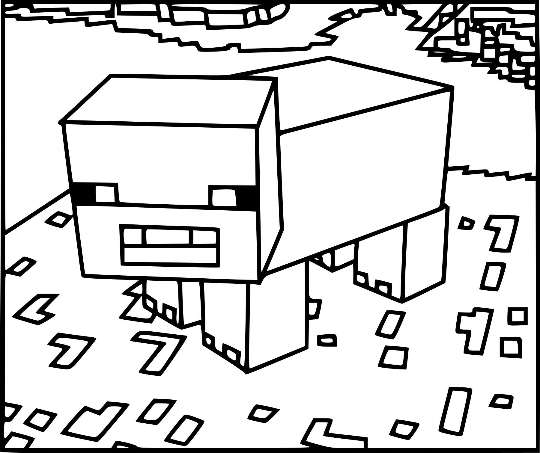 Coloriage Cochon Minecraft À Imprimer concernant Dessin A Colorier Cochon