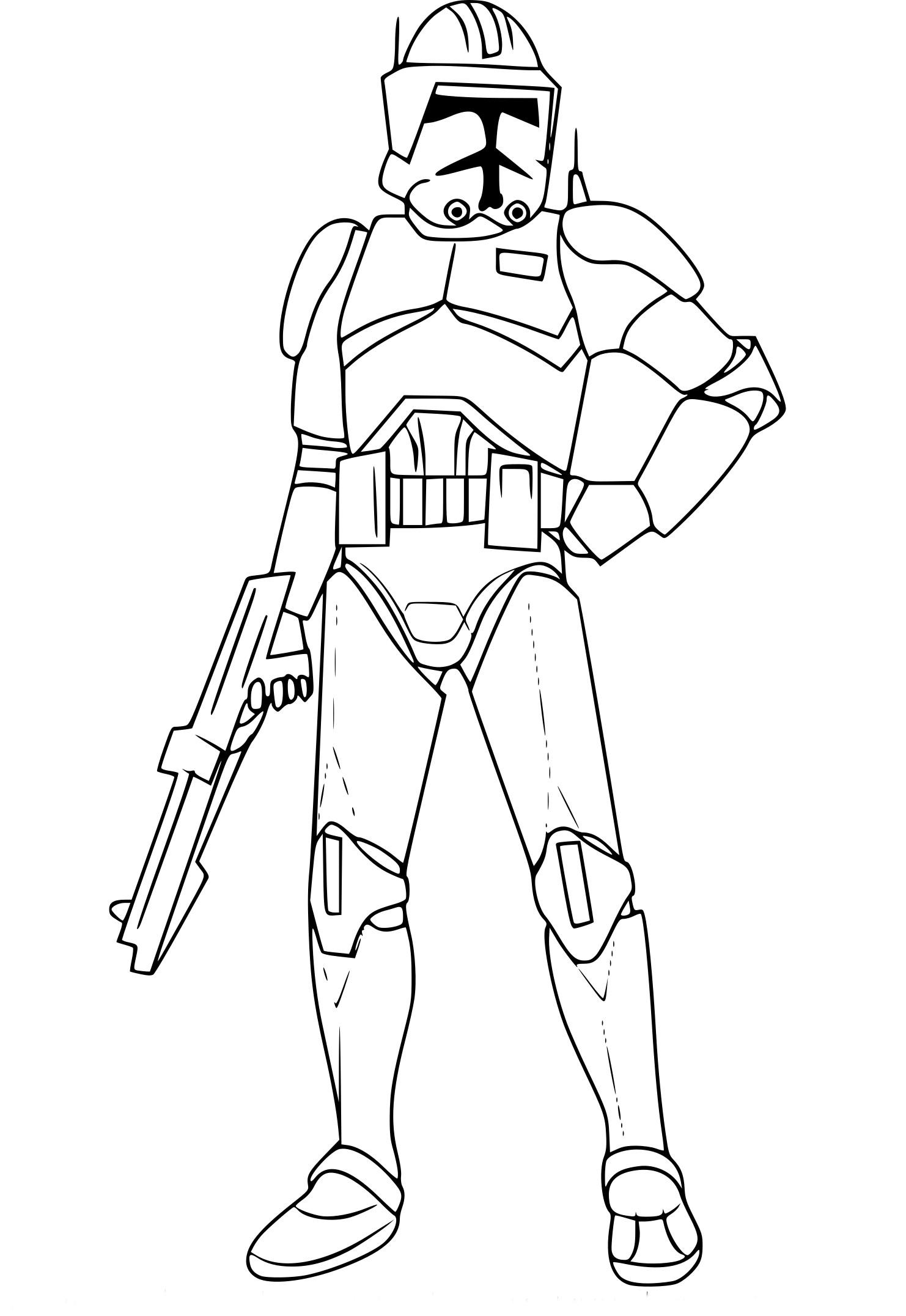 Coloriage Cody Star Wars À Imprimer à Coloriage Robot À Imprimer