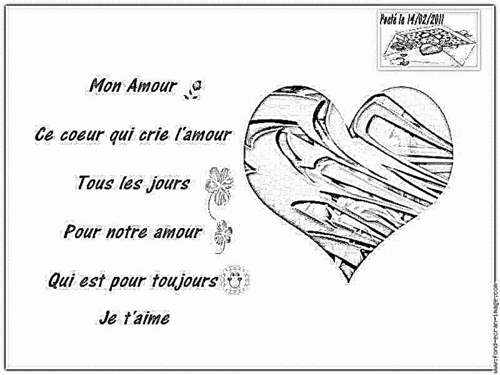 Coloriage Coeur Poste Saint Valentin Bien À Imprimer Pour concernant Dessin Pour La Saint Valentin