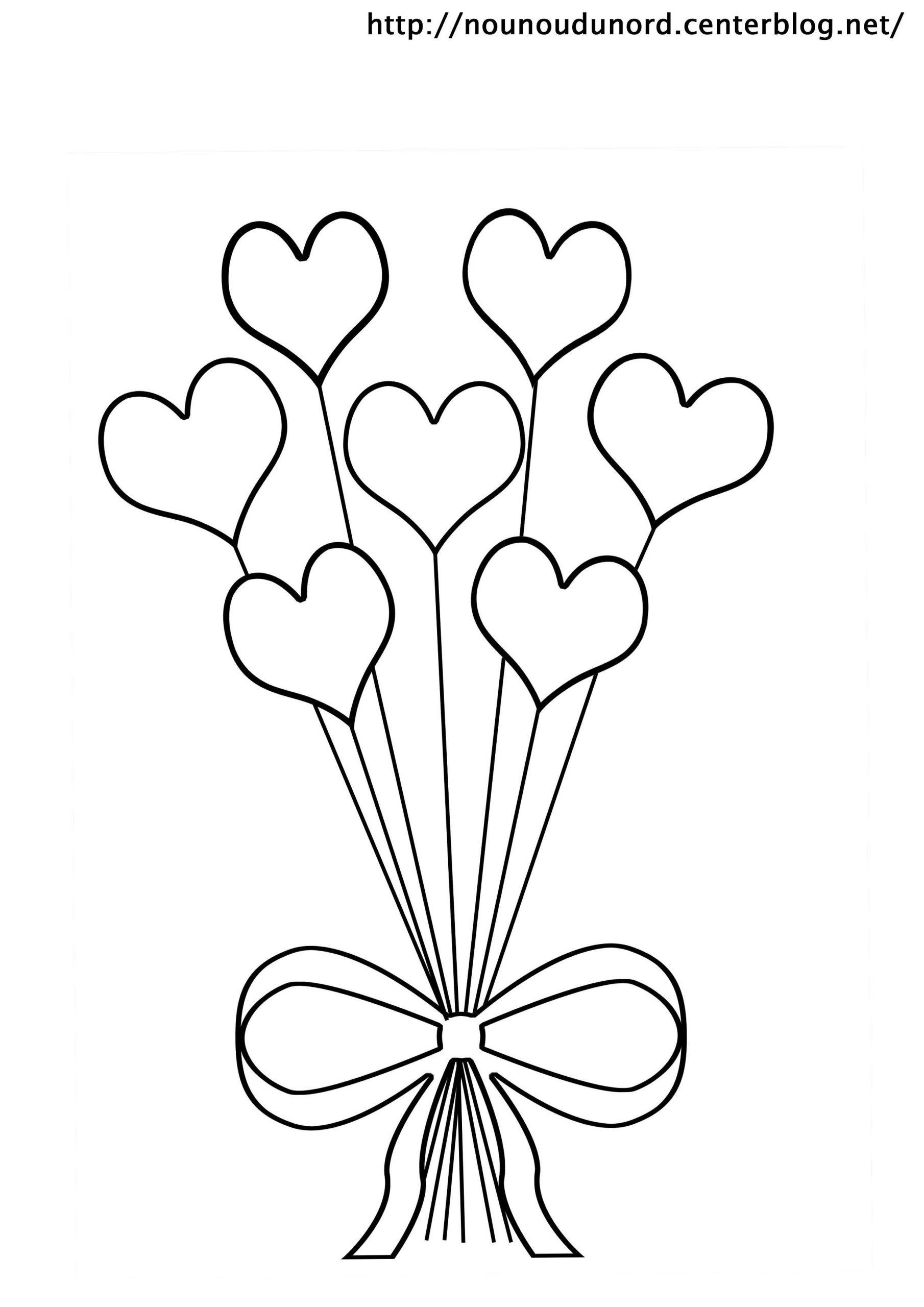 Coloriage Coeurs St Valentin concernant Dessin Pour La Saint Valentin
