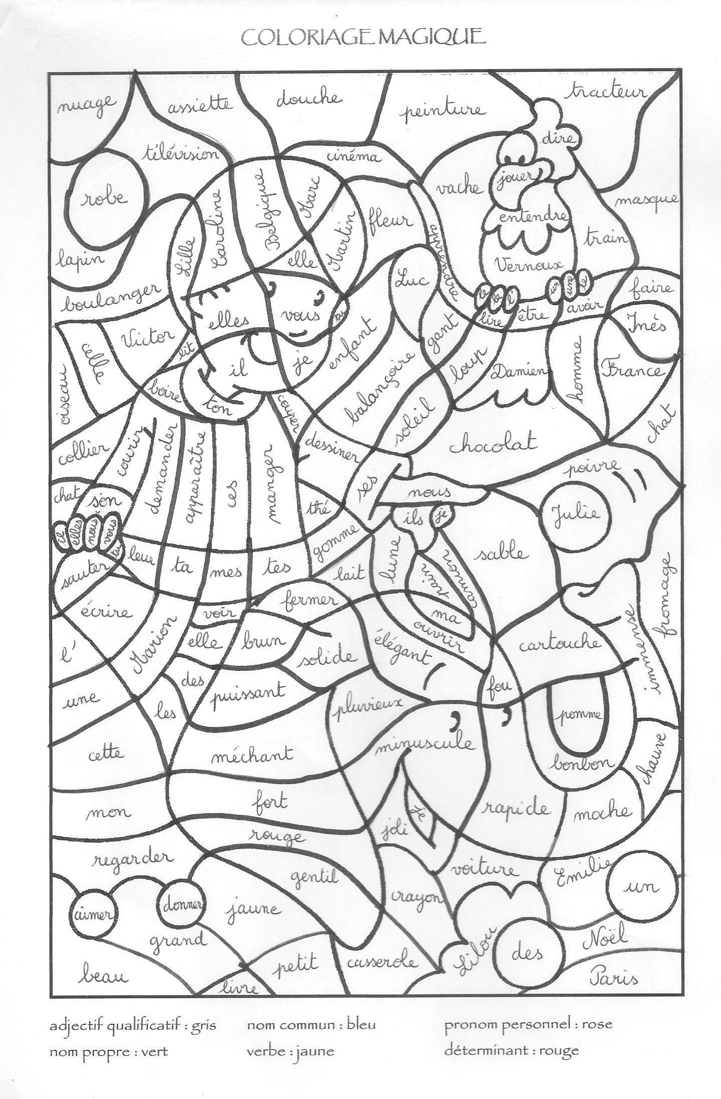 Coloriage Coloriage Magique 2 | Coloriage Magique avec Coloriage Magique Français Cp
