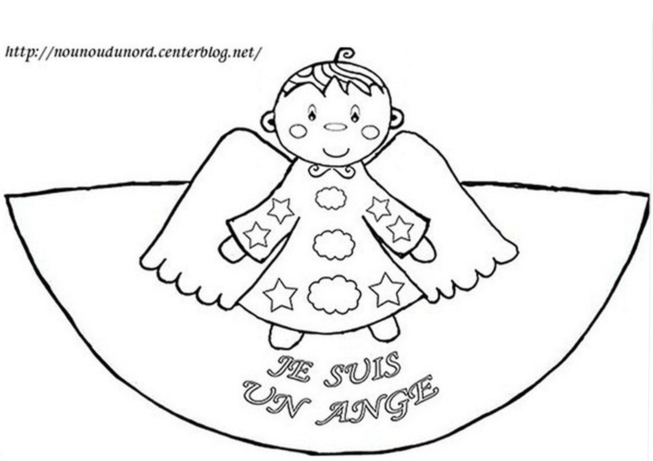 Coloriage Cône De L'ange Garçon encequiconcerne Ange A Colorier