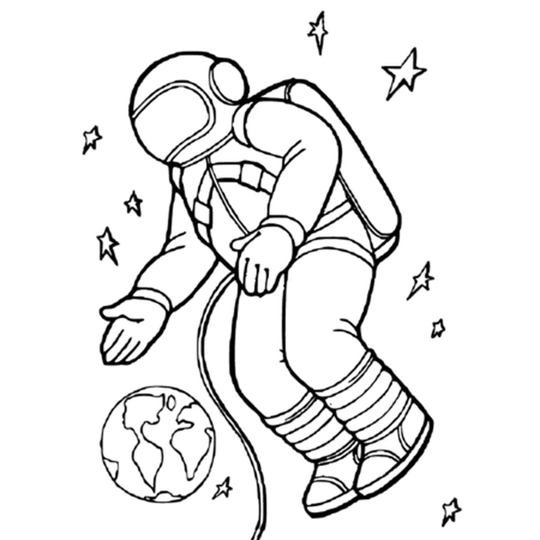 Coloriage Cosmonaute En Ligne Gratuit À Imprimer concernant Coloriage Astronaute