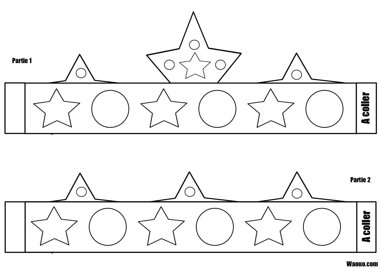 Coloriage Couronne Des Rois À Imprimer, Colorier Et Découper avec Dessin A Decouper