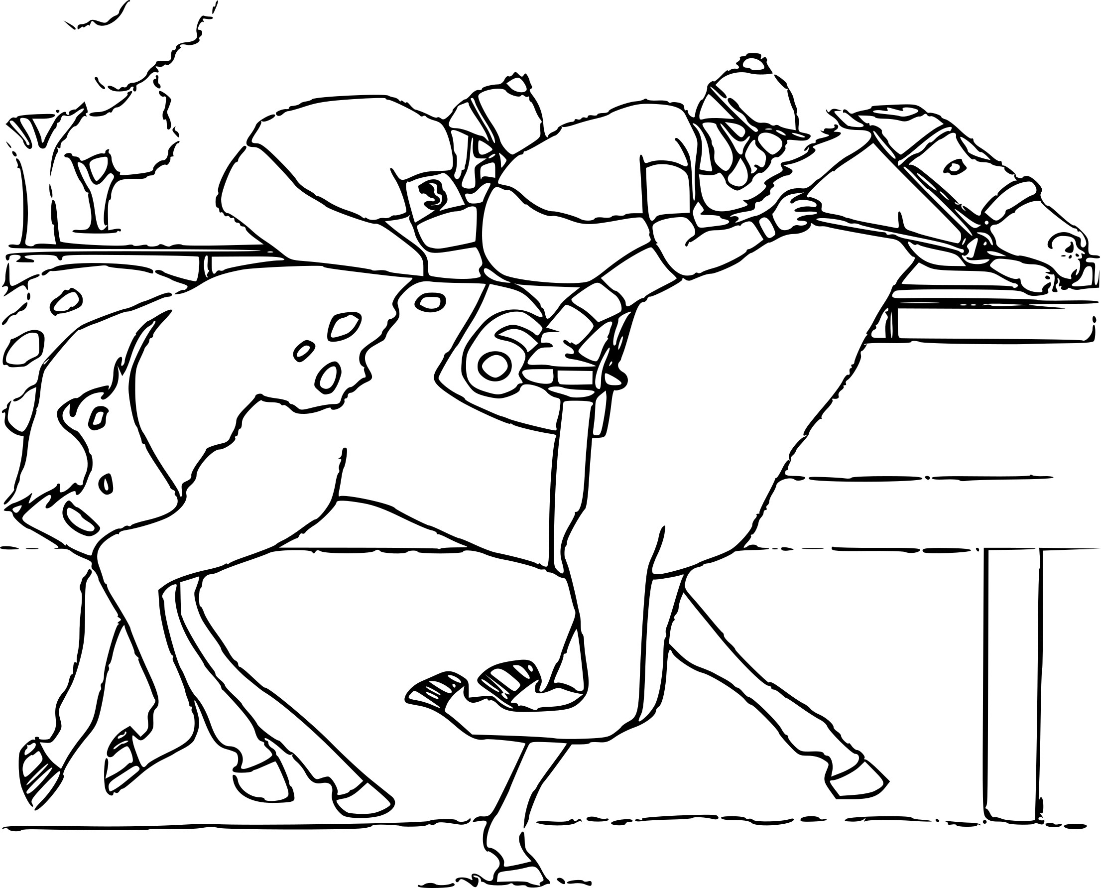 Coloriage Course De Cheval À Imprimer Sur Coloriages serapportantà Image De Cheval A Colorier