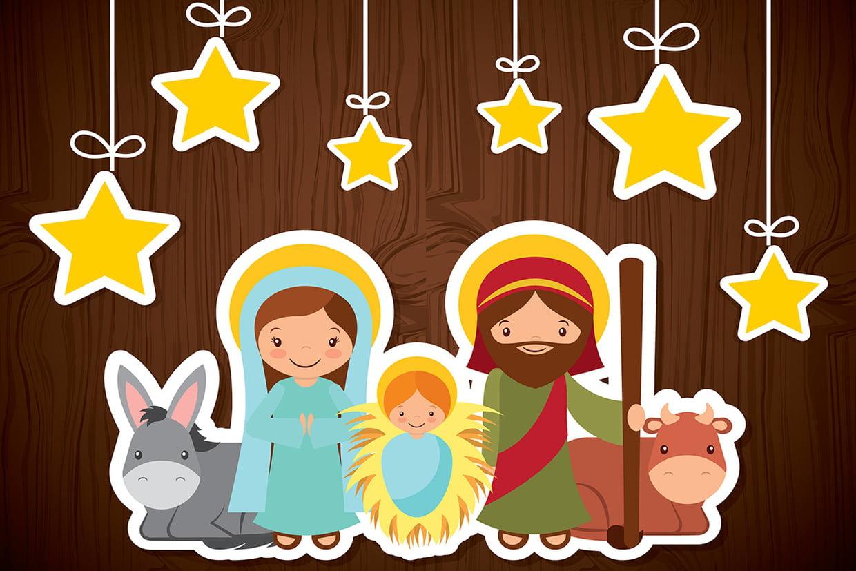 Coloriage Crèche De Noël Et Nativité Sur Hugolescargot dedans Creche A Imprimer