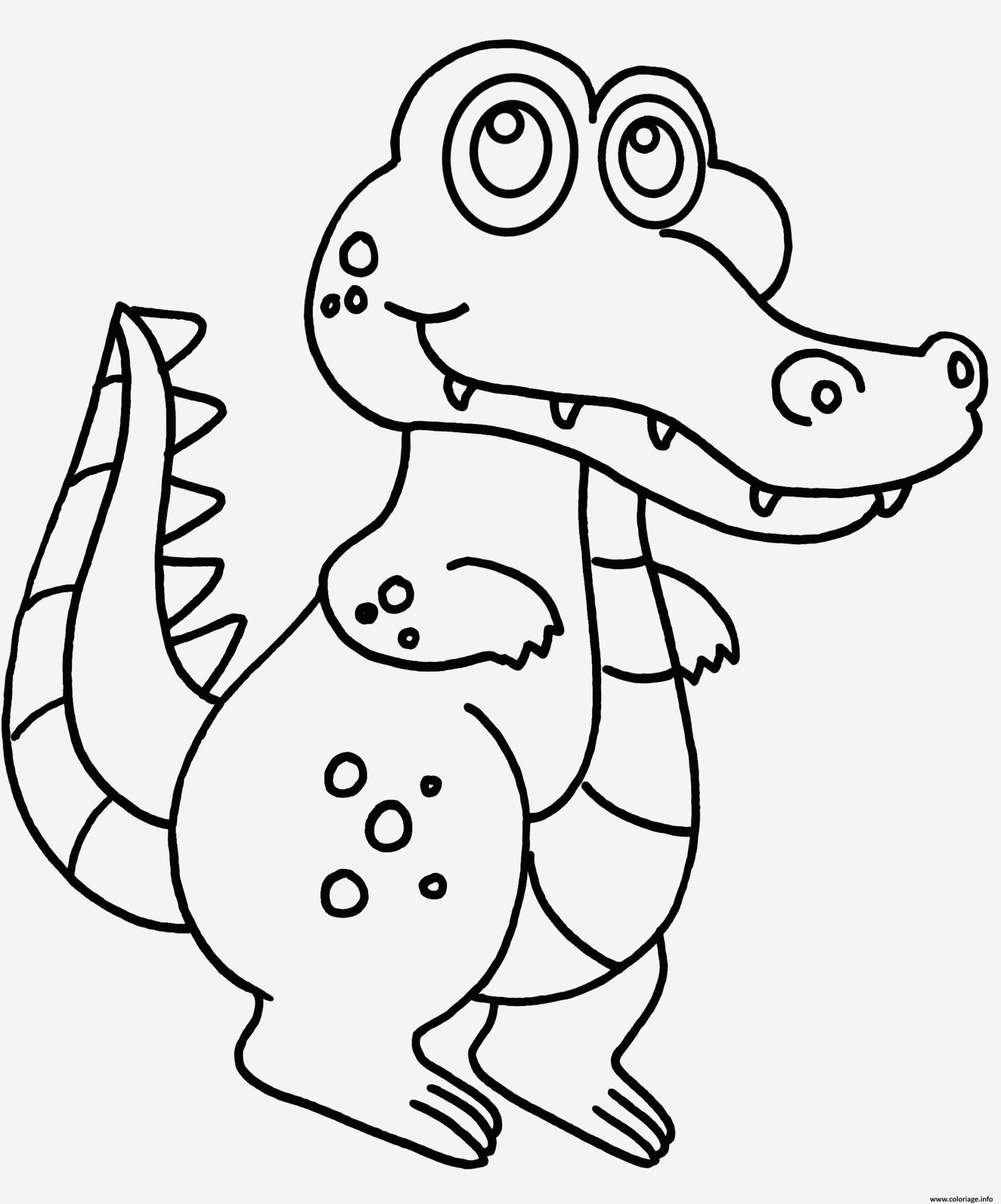 Coloriage Crocodile À Imprimer Gratuit - Coloriages Gratuits intérieur Dessin De Vague A Imprimer