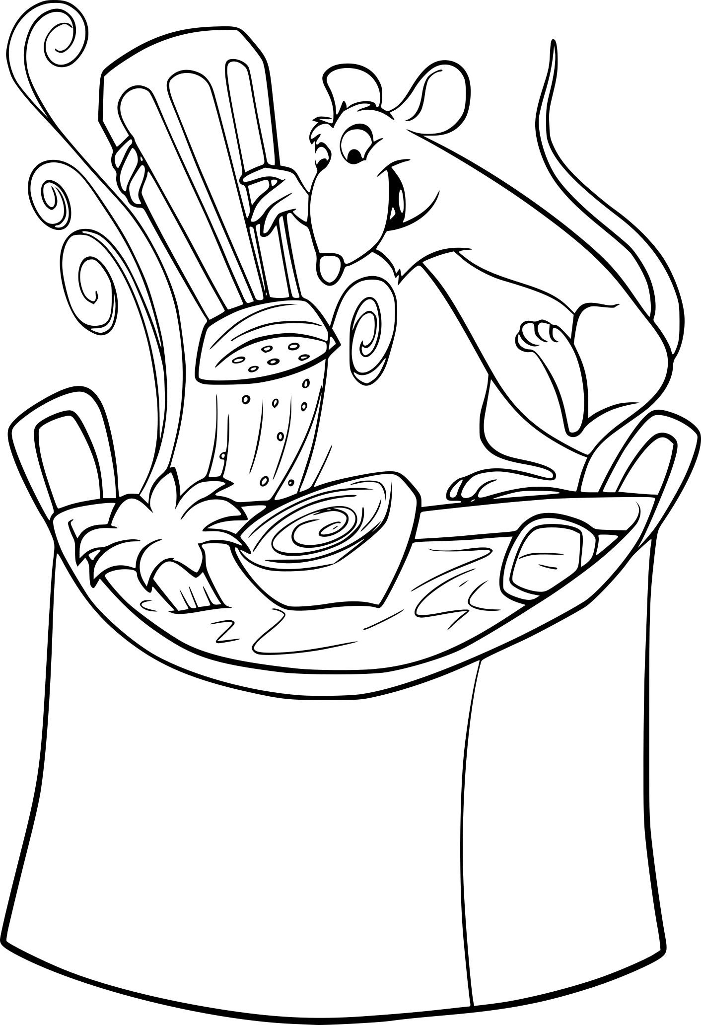 Coloriage Cuisine Rauille À Imprimer Sur Coloriages tout Dessin Ratatouille