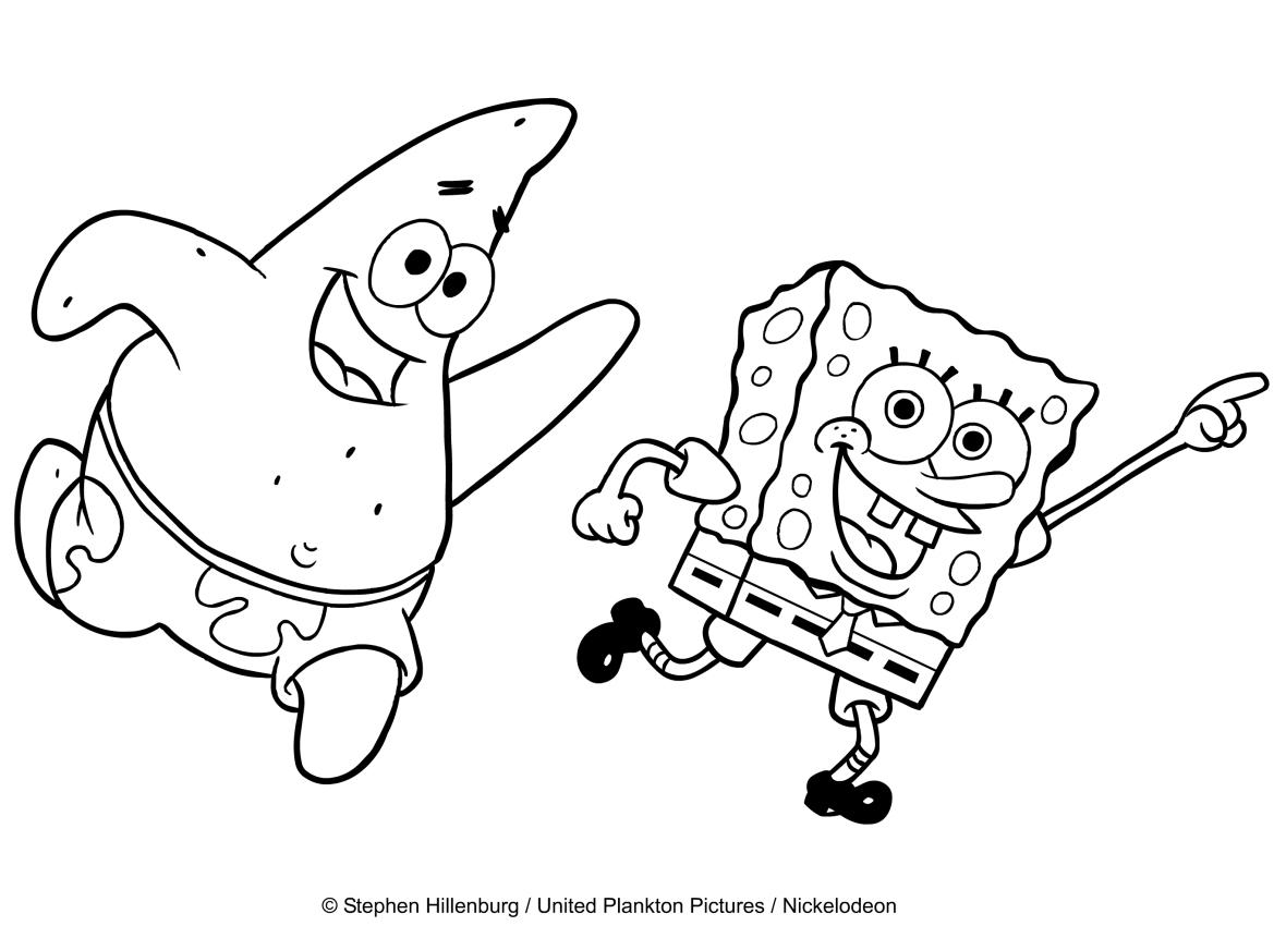 Coloriage De Bob L'eponge Che Balla Com Patrick pour Image Bob L Éponge A Imprimer