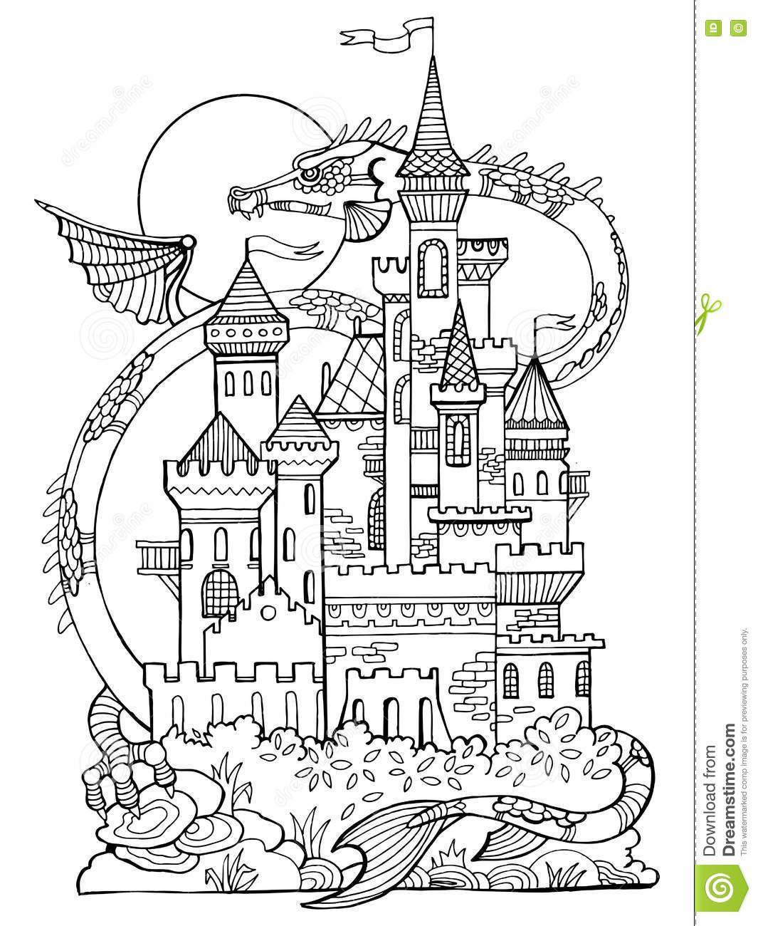 Coloriage De Chateau. Coloriage Et Dessins Gratuit Chateau à Coloriage À Imprimer Chateau De Princesse