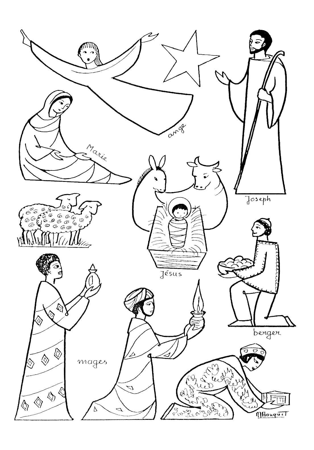 Coloriage De Crèche (Noël - Nativité) - Coloriages Pour Enfants destiné Creche A Imprimer