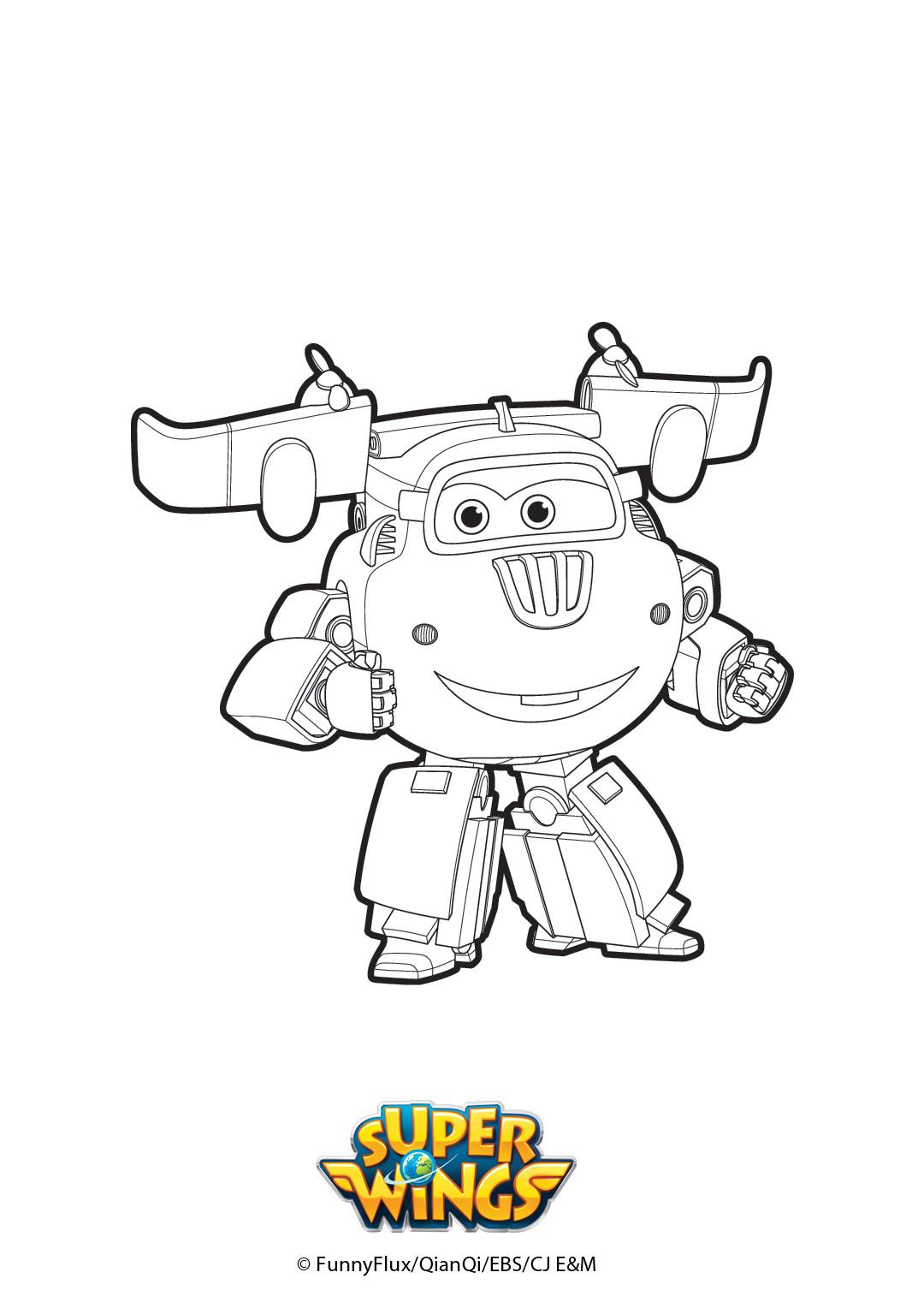 Coloriage De Donnie - Super Wings concernant Coloriage Robot À Imprimer