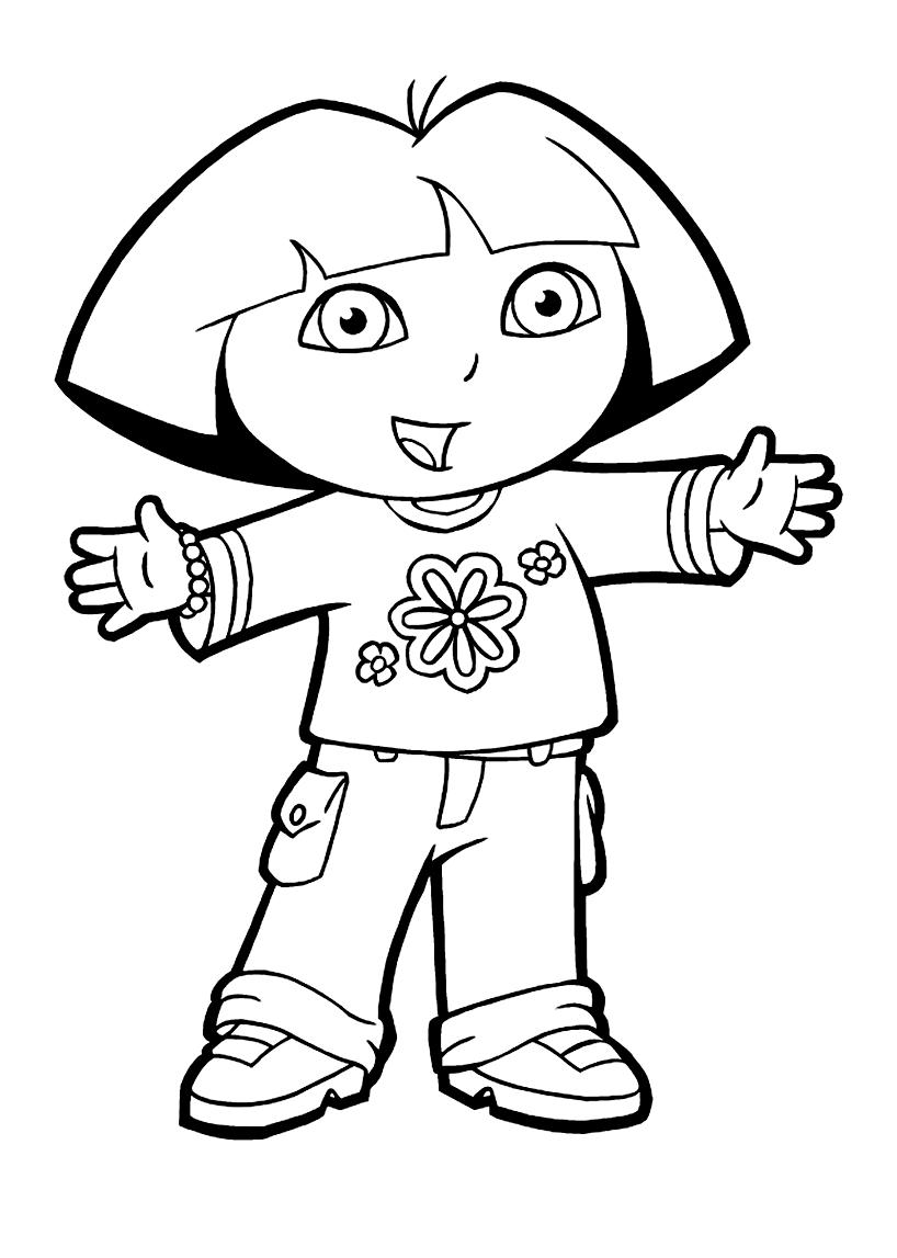 Coloriage De Dora L'exploratrice À Imprimer - Coloriages De à Coloriage Dora Princesse
