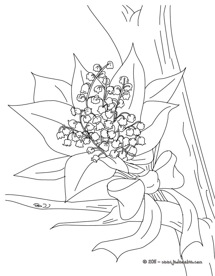 Coloriage De Fleurs - Coloriages - Coloriage À Imprimer pour Dessin A Colorier De Fleur