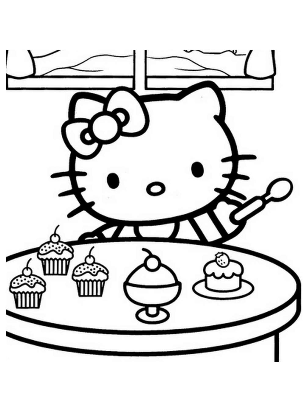 Coloriage De Hello Kitty À Colorier Pour Enfants destiné Hello Kitty À Dessiner