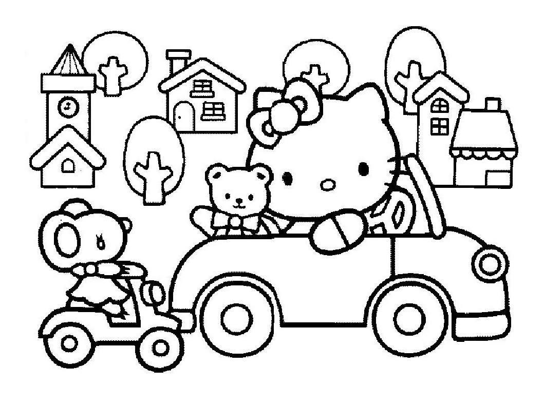 Coloriage De Hello Kitty À Imprimer Pour Enfants avec Hello Kitty À Dessiner