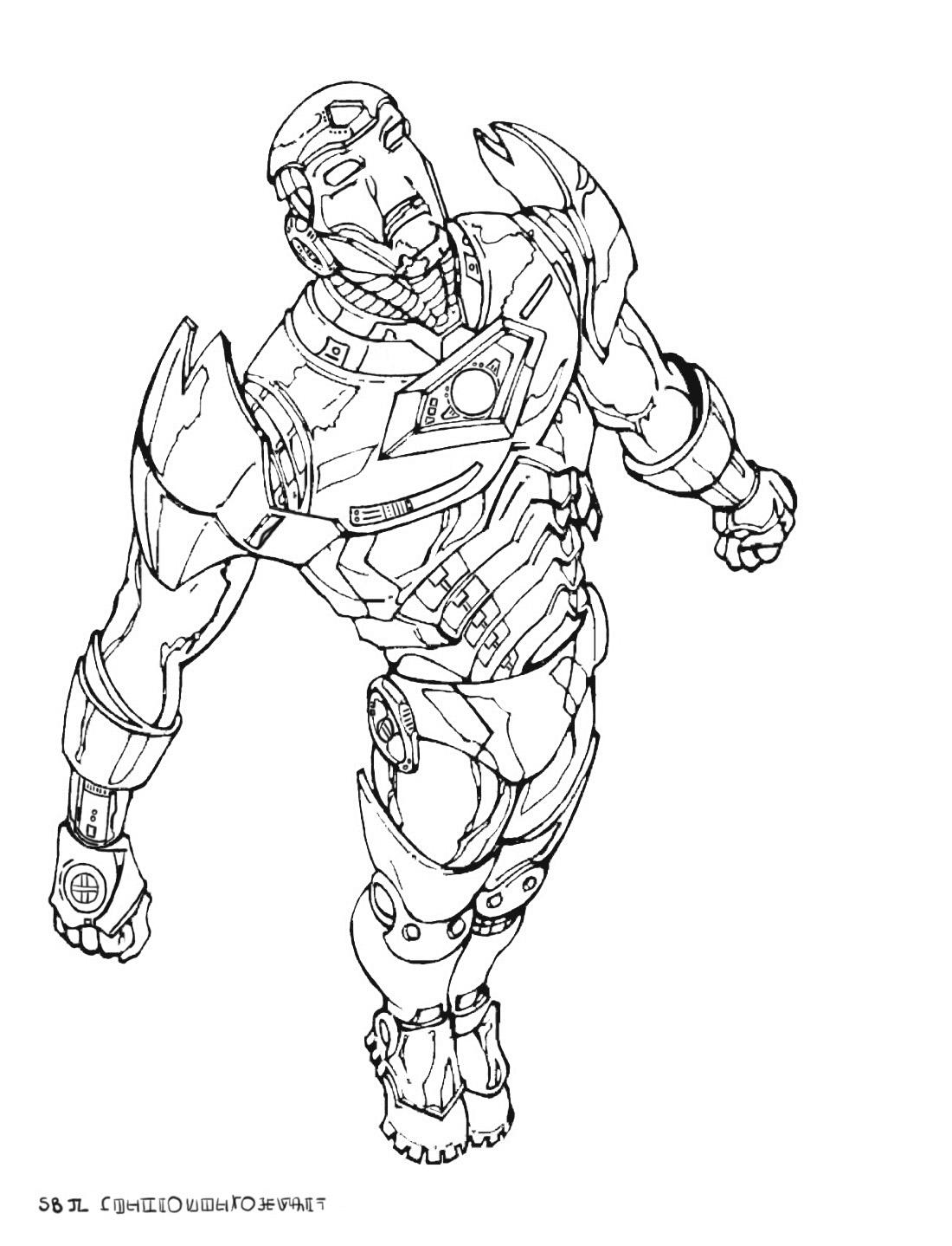 Coloriage De Iron Man À Telecharger Gratuitement - Coloriage destiné Coloriage À Colorier Sur L Ordinateur Gratuit