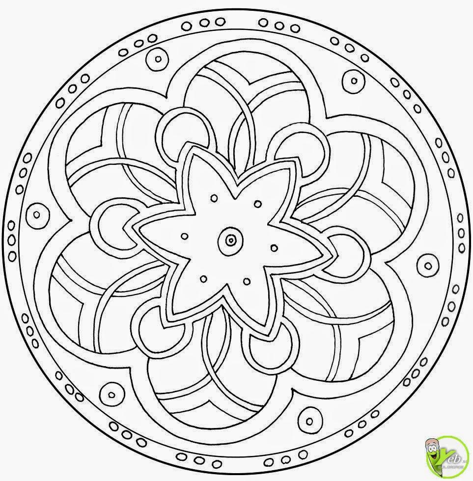 Coloriage De Mandala A Colorier à Jeux De Coloriage De Rosace