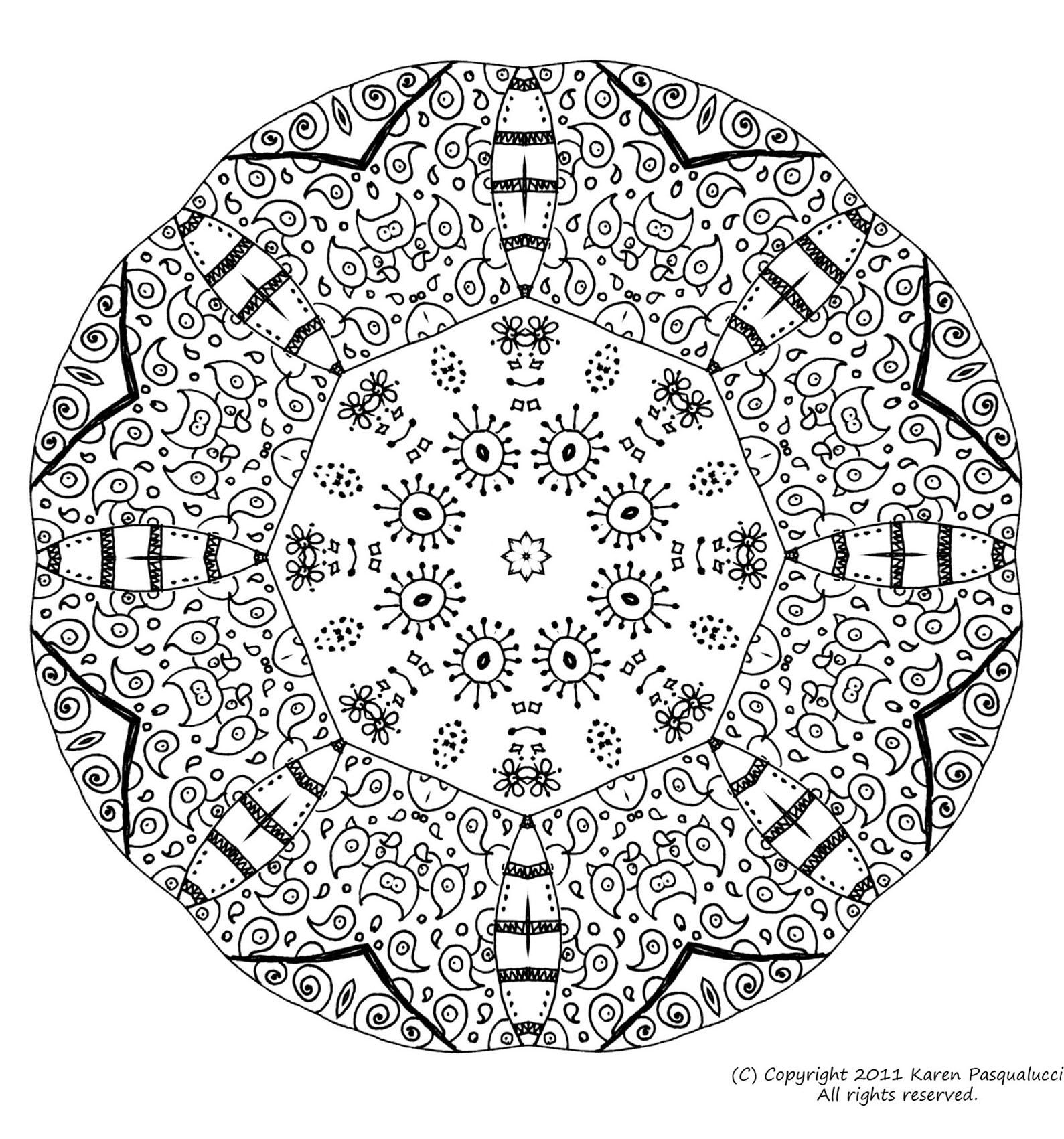 Coloriage De Mandala. Coloriage Mandala Chat Difficile serapportantà Coloriage De Mandala Difficile A Imprimer