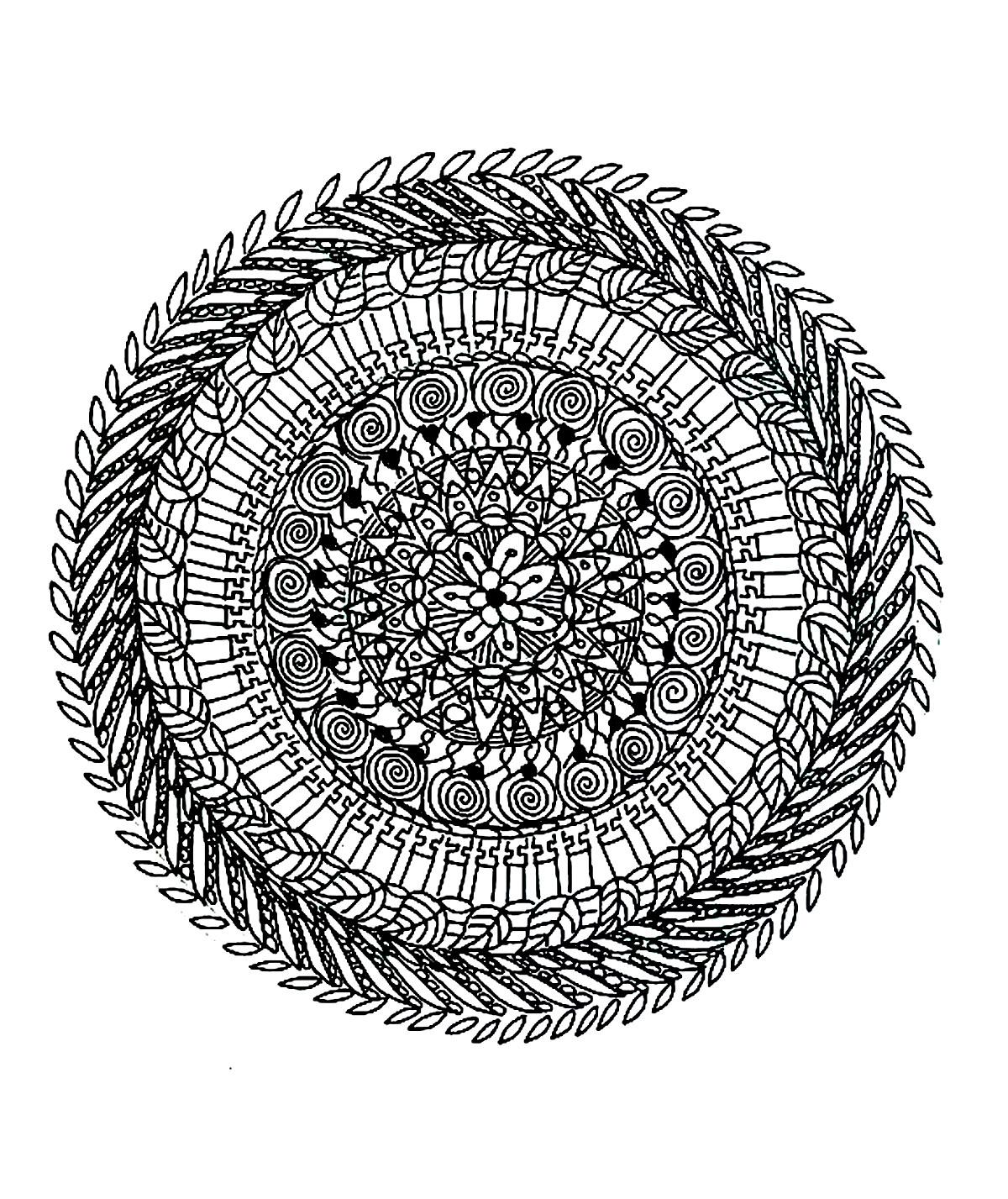 Coloriage De Mandala Complexe - Mandalas Très Difficiles encequiconcerne Coloriage De Mandala Difficile A Imprimer