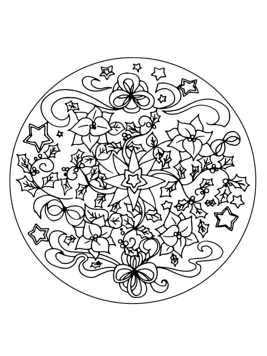 Coloriage De Mandala De Noël À Imprimer | Coloriages À dedans Mandala À Colorier Et À Imprimer Gratuit