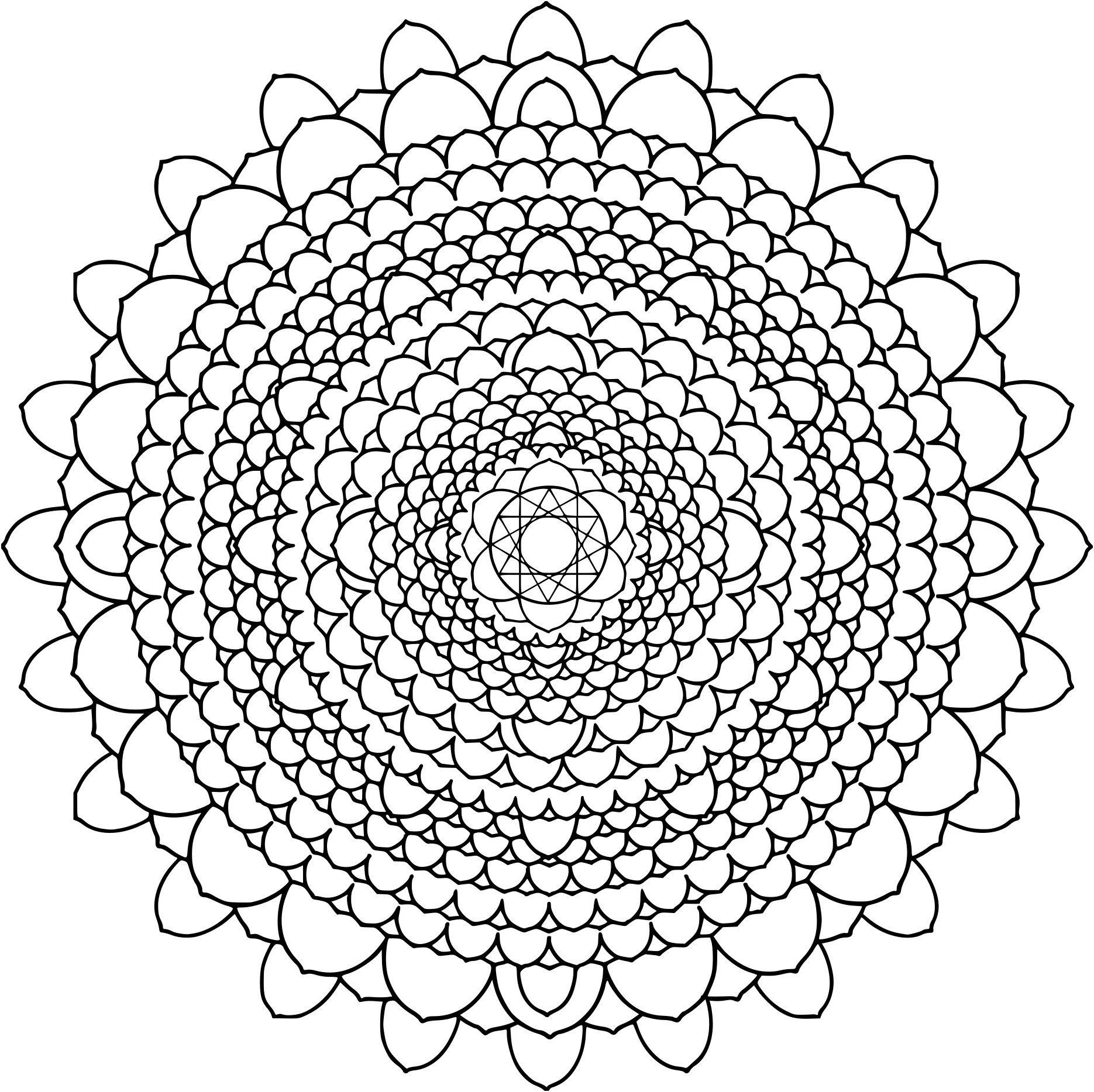 Coloriage De Mandala Difficile . 8 Qualifié Coloriage De tout Jeux De Coloriage De Rosace