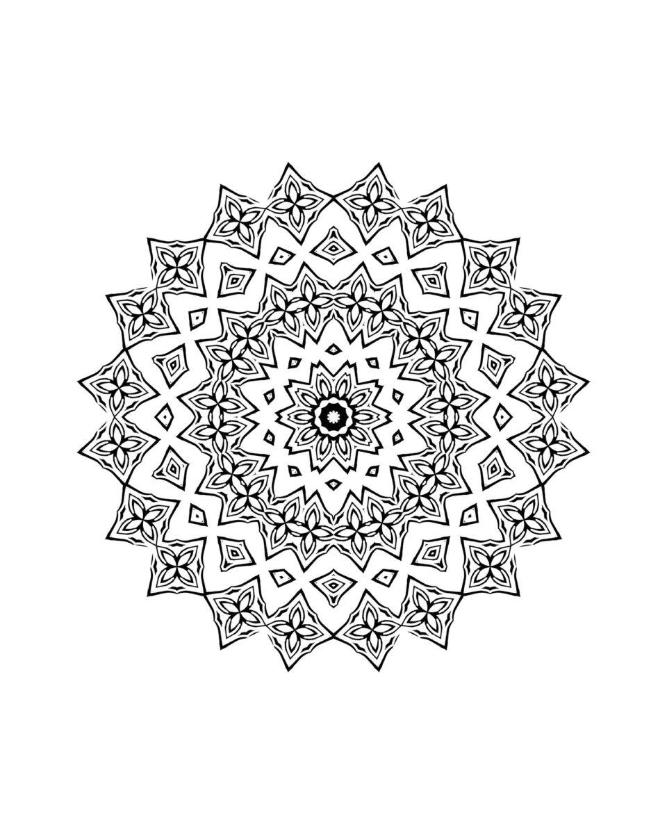 Coloriage De Mandala Pour Enfant À Imprimer - Family Sphere concernant Jeux De Coloriage De Rosace
