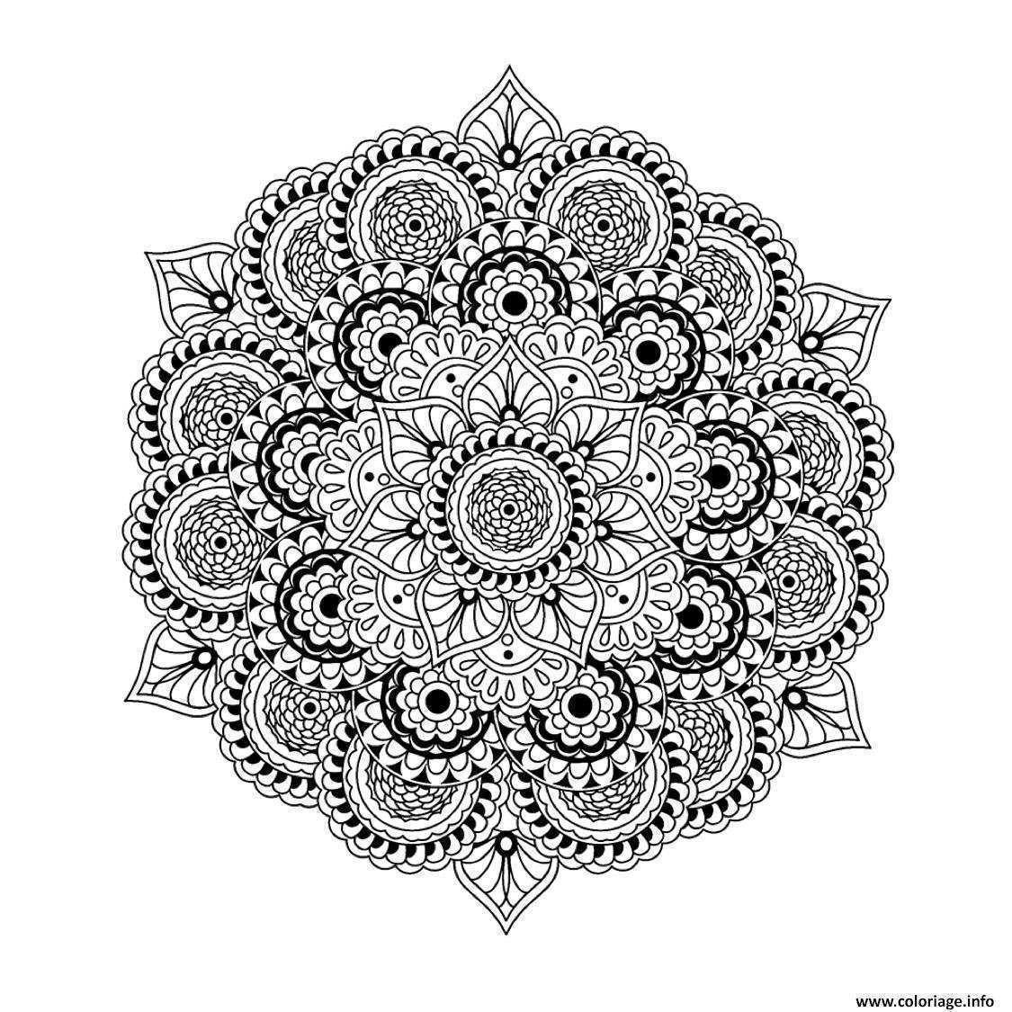 Coloriage De Mandala Tres Difficile | Coloriages À Imprimer serapportantà Coloriage Magique Dur