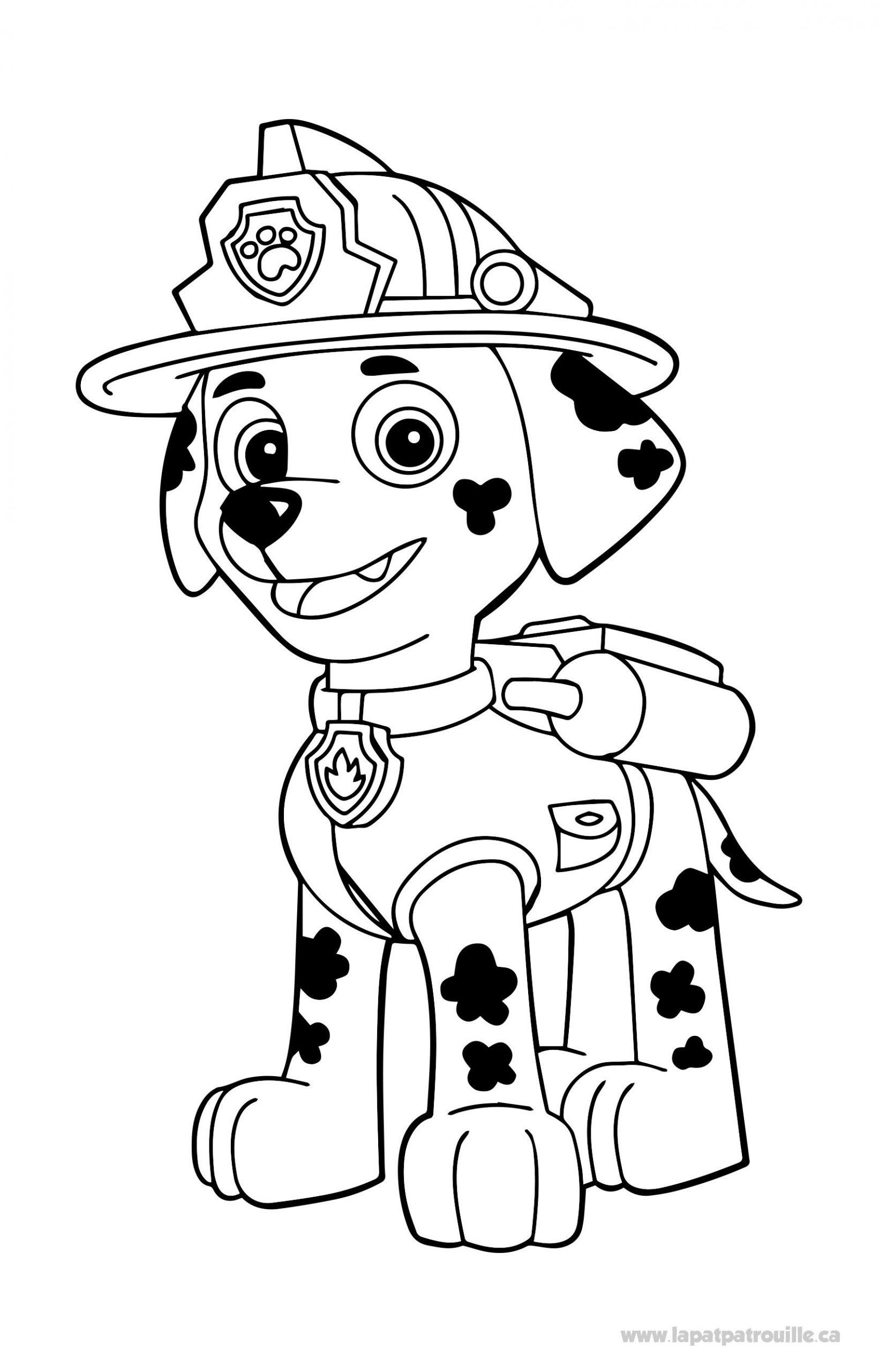 Coloriage De Marcus À Colorier – La Pat' Patrouille encequiconcerne Coloriage Pompier A Imprimer Gratuit