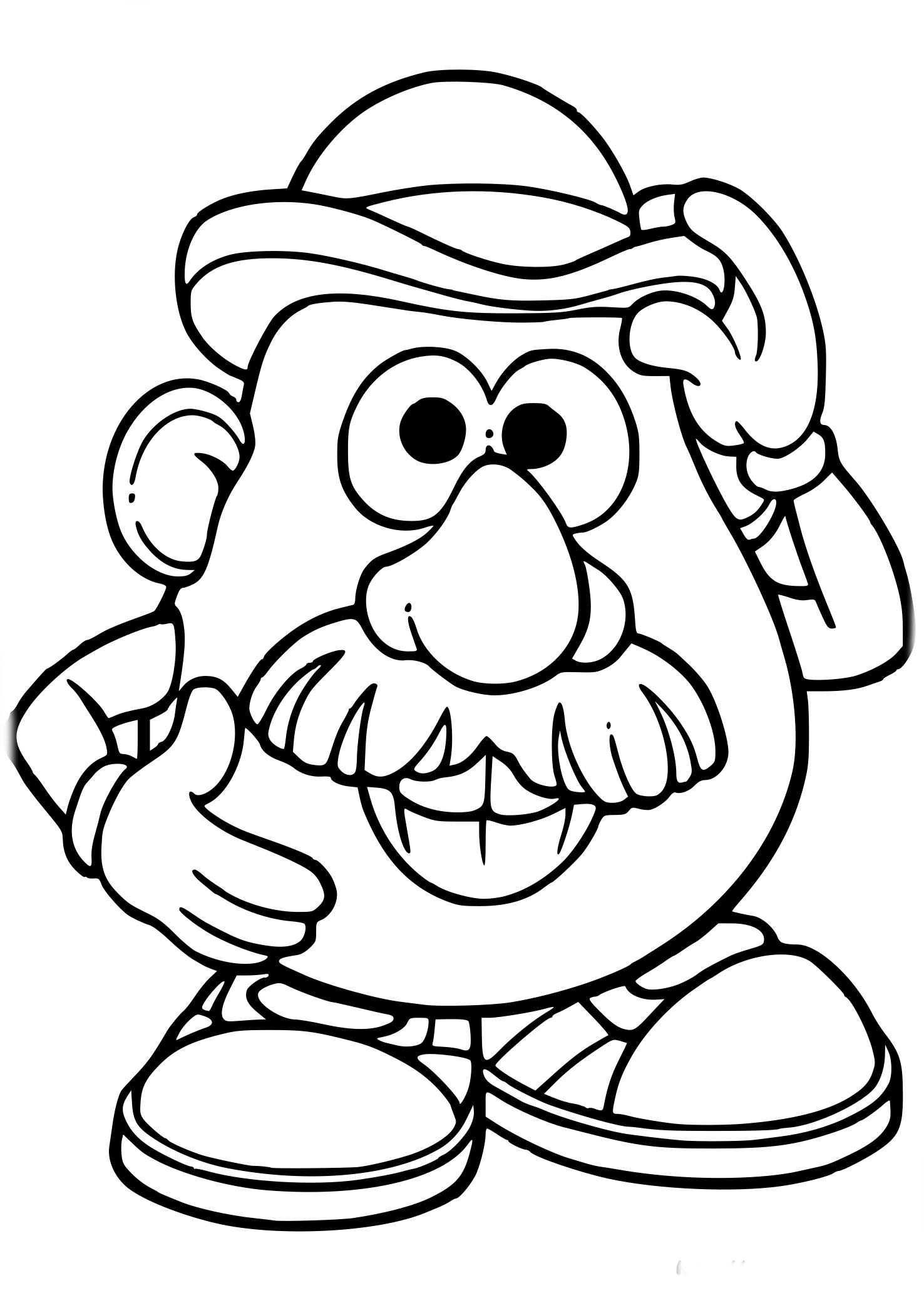 Coloriage De Monsieur Patate À Imprimer Sur Coloriage De intérieur Coloriage Mr Patate