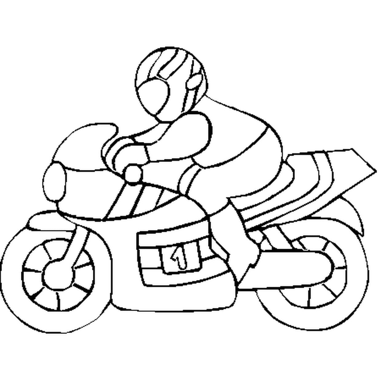 Coloriage De Moto En Ligne Gratuit À Imprimer pour Coloriage En Ligne 3 Ans