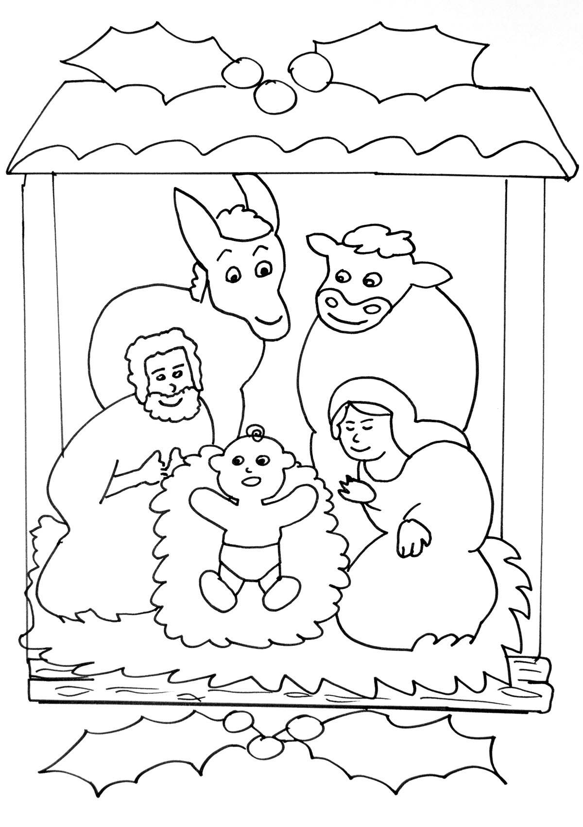 Coloriage De Noël À Imprimer - Coloriages De Noël destiné Creche A Imprimer