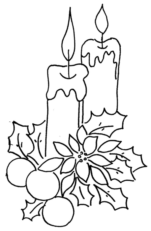 Coloriage De Noël À Imprimer Gratuit - 40 Dessins Que Vos avec Dessin Sur Bougie