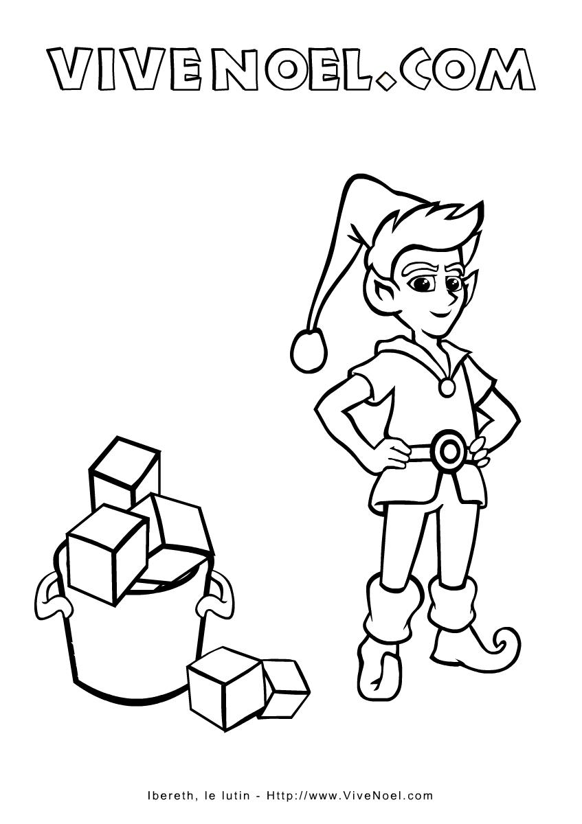 Coloriage De Noël À Imprimer > Ibereth, Le Lutin intérieur Dessiner Un Lutin