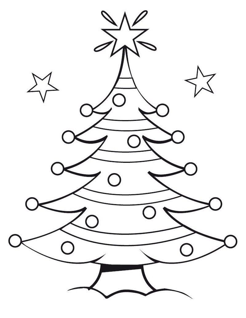 Coloriage De Noël – Pour Des Fêtes Pleines De Couleurs avec Coloriage De Sapin De Noel A Imprimer Gratuit