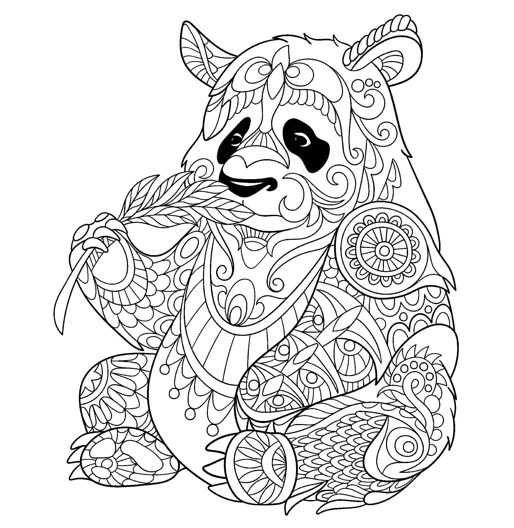Coloriage De Panda À Imprimer Gratuitement - Coloriage De tout Panda À Colorier