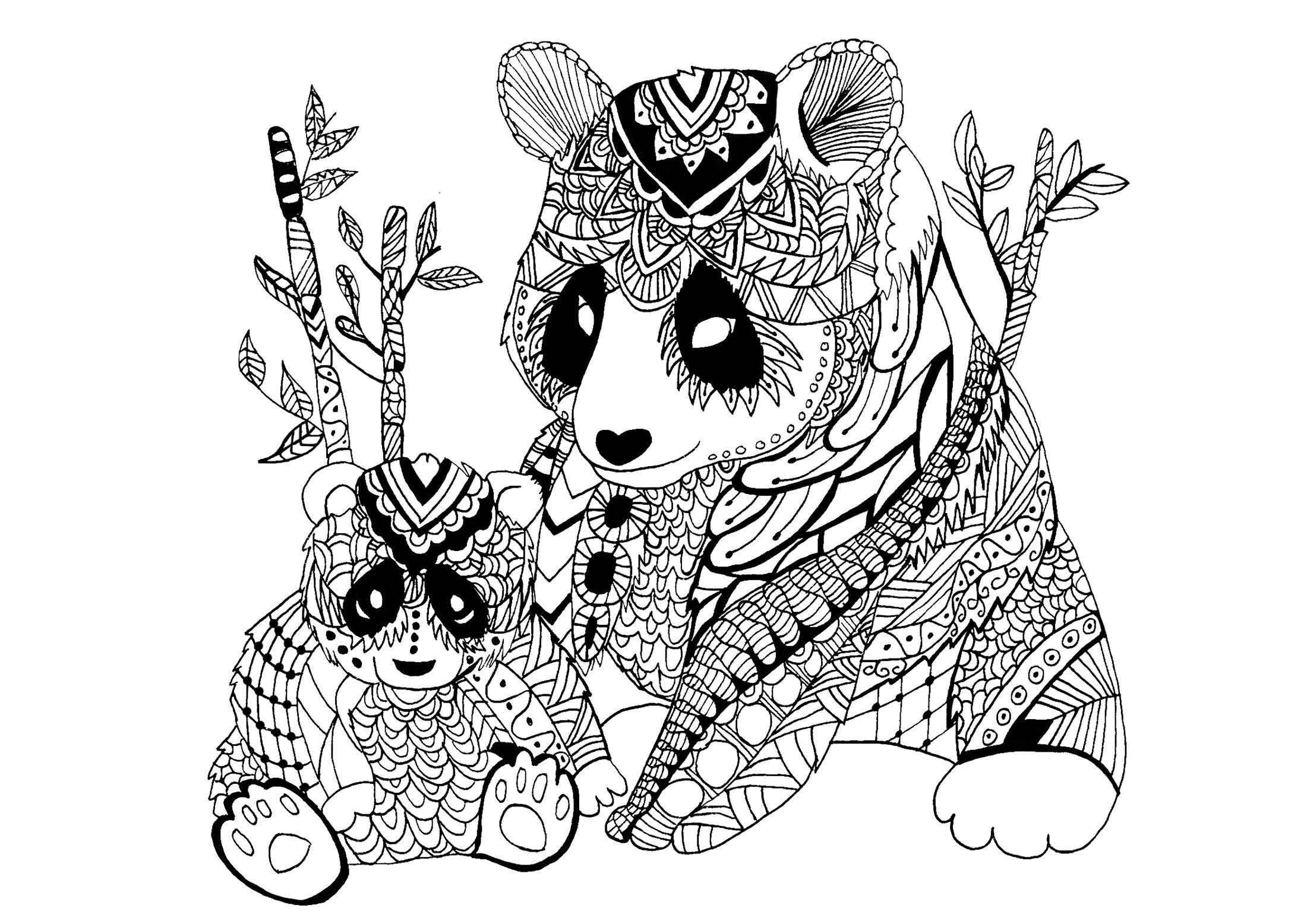Coloriage De Panda À Imprimer Pour Enfants - Coloriage De concernant Panda À Colorier