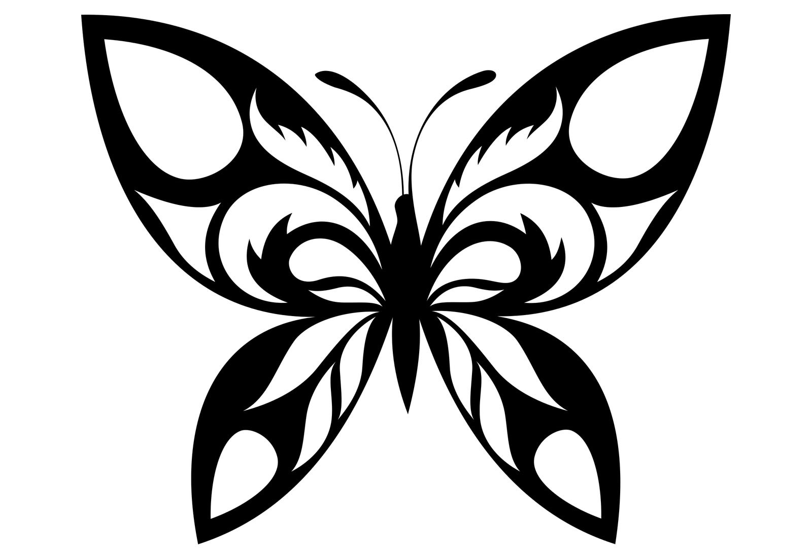 Coloriage De Papillons Pour Les Petits - Family Sphere serapportantà Dessin Papillon À Colorier