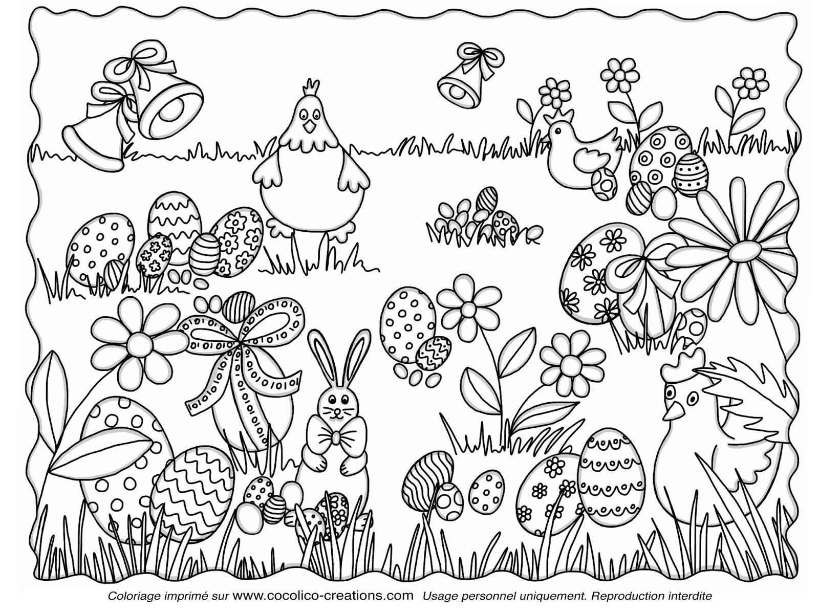 Coloriage De Paques À Imprimer Gratuit - Les Coloriages De serapportantà Image A Colorier Gratuit A Imprimer