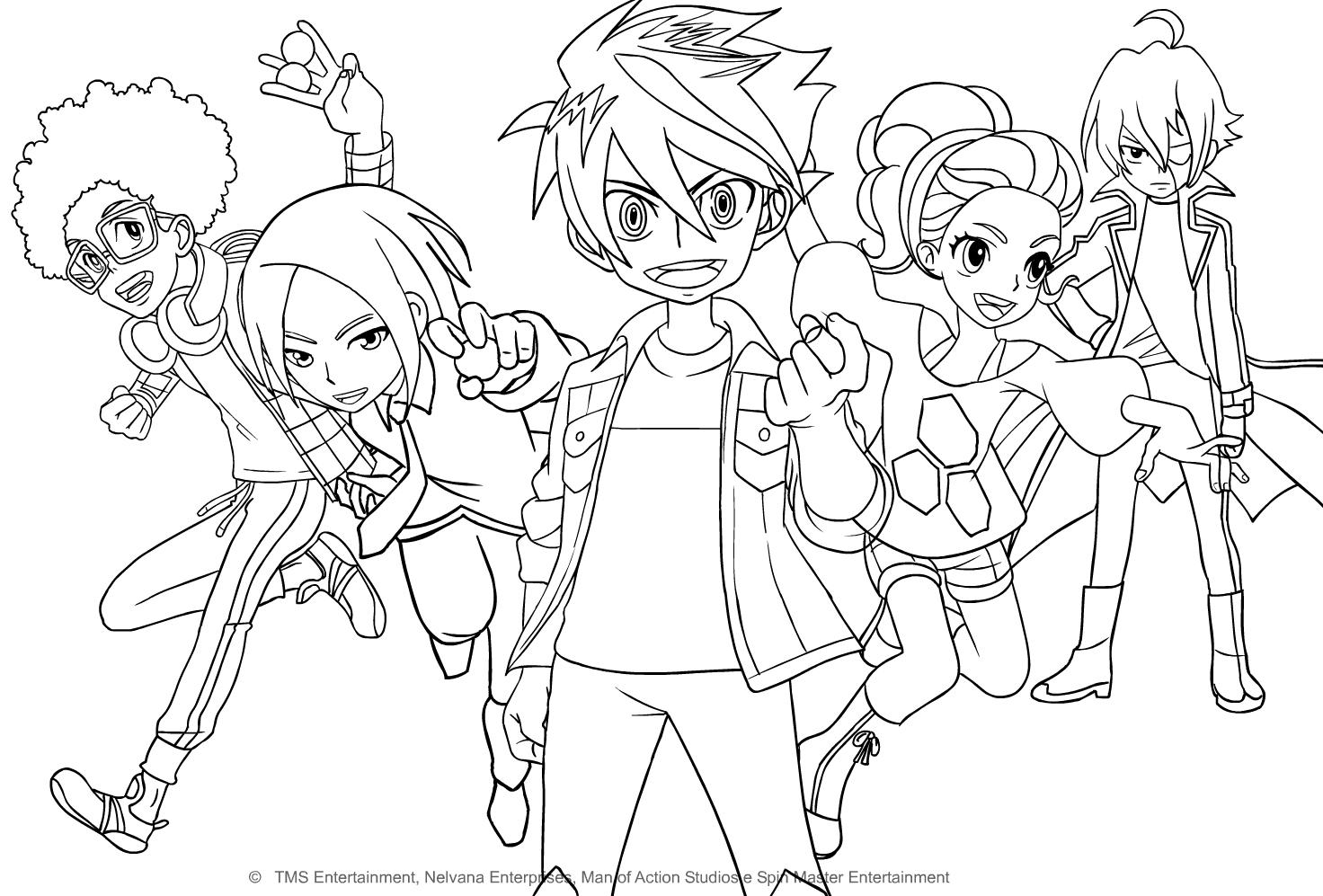 Coloriage De Personnages De Bakugan Battle Planet serapportantà Personnage A Colorier