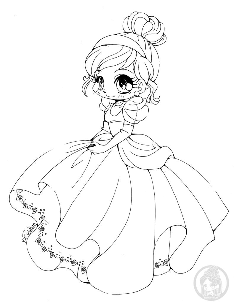 Coloriage De Princesse Cendrillon Disney Par Yampuff destiné Coloriage Princesses Disney À Imprimer