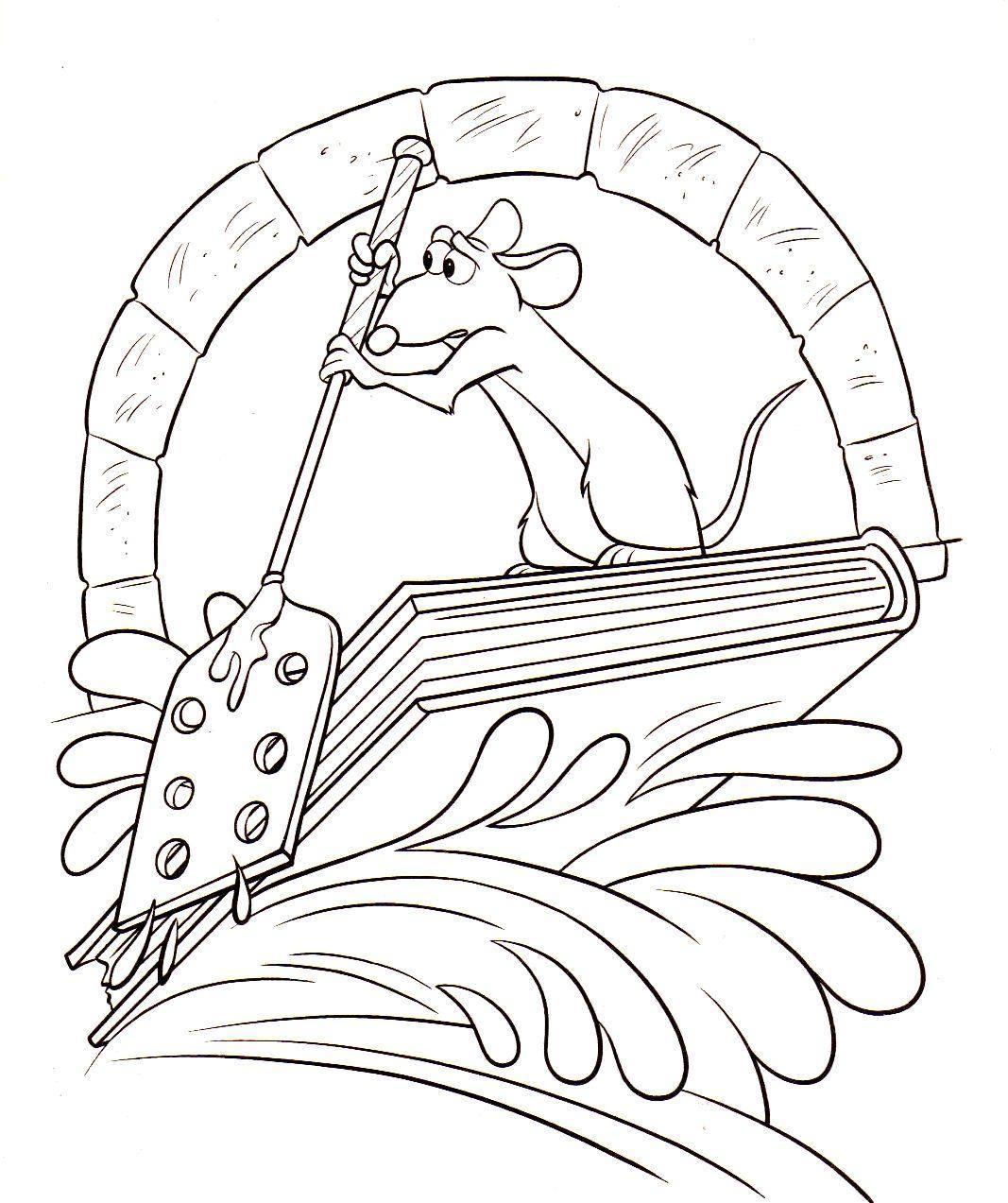 Coloriage De Rauille À Imprimer - Coloriage Rauille dedans Dessin Ratatouille