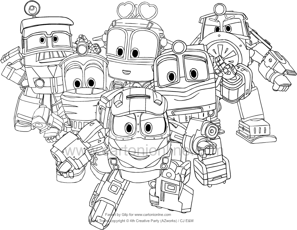 Coloriage De Robot Trains destiné Coloriage Robot À Imprimer