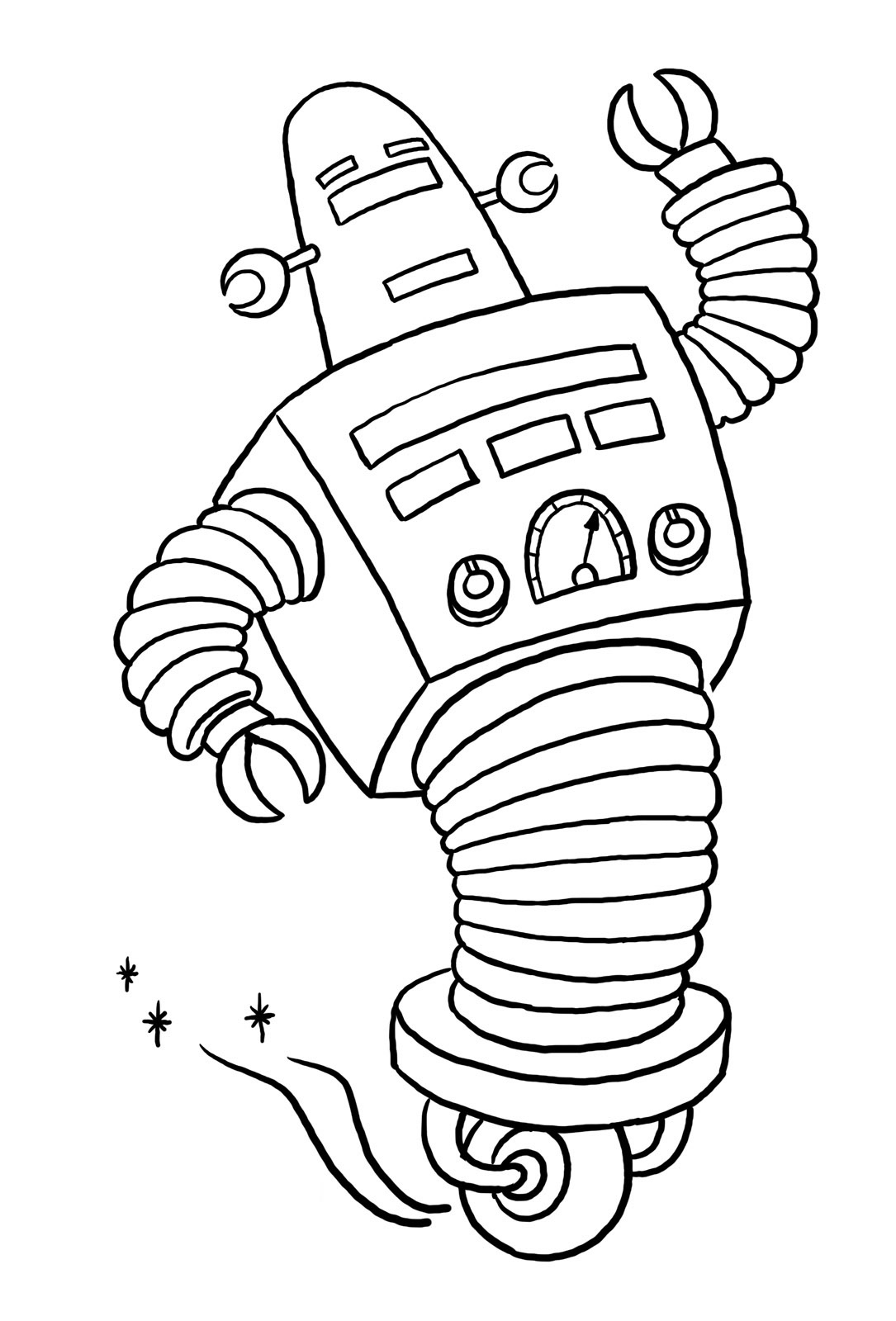 Coloriage De Robots À Imprimer Gratuitement - Coloriage De tout Coloriage Robot À Imprimer