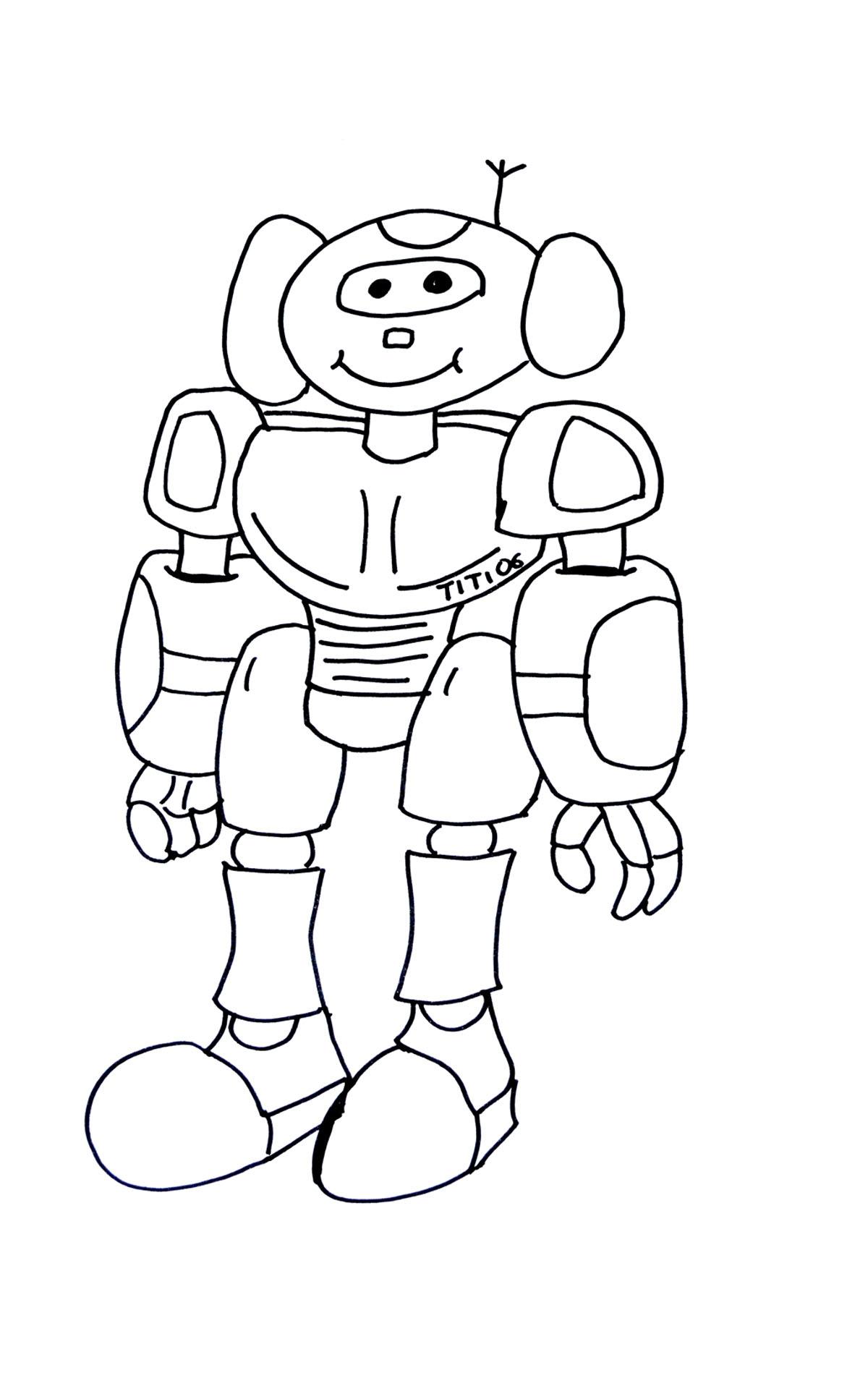Coloriage De Robots À Imprimer Pour Enfants - Coloriage De à Coloriage Robot À Imprimer